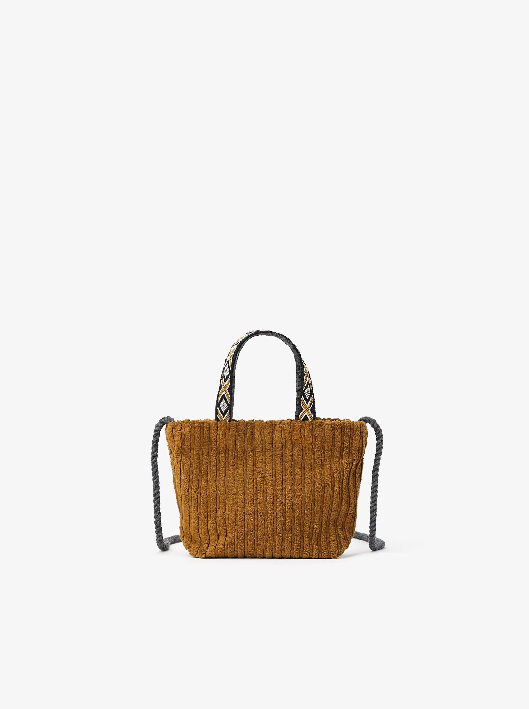 Zara CORDUROY CROSSBODY BAG