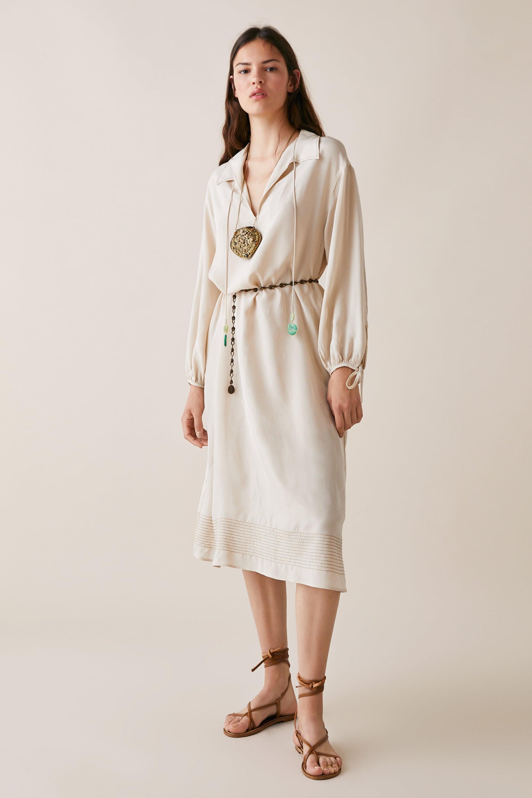 Zara LIMITED EDITION ZARA STUDIO BEADED TIE DRESS