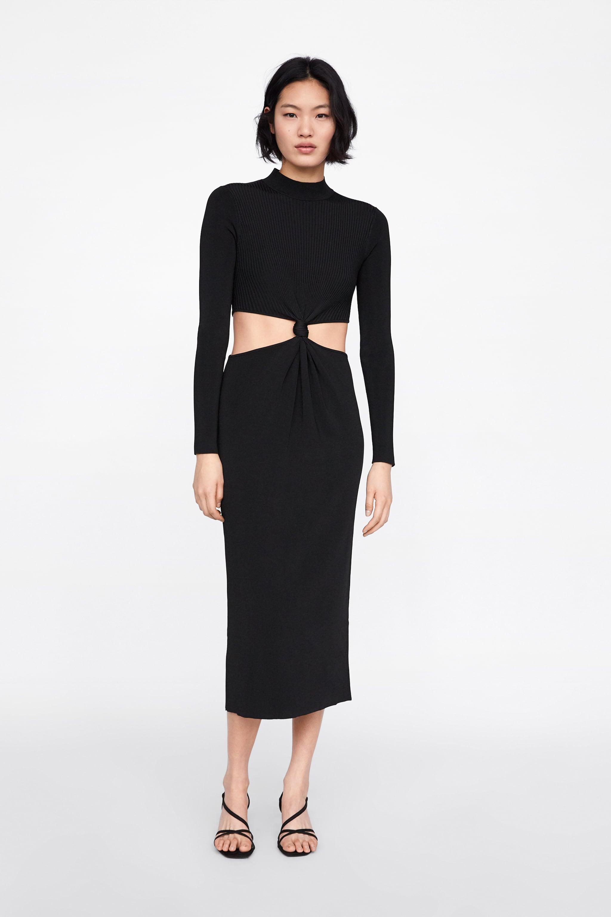 d3ecf52ba7b7 Zara LONG DRESS WITH CUT OUTS AND KNOTS