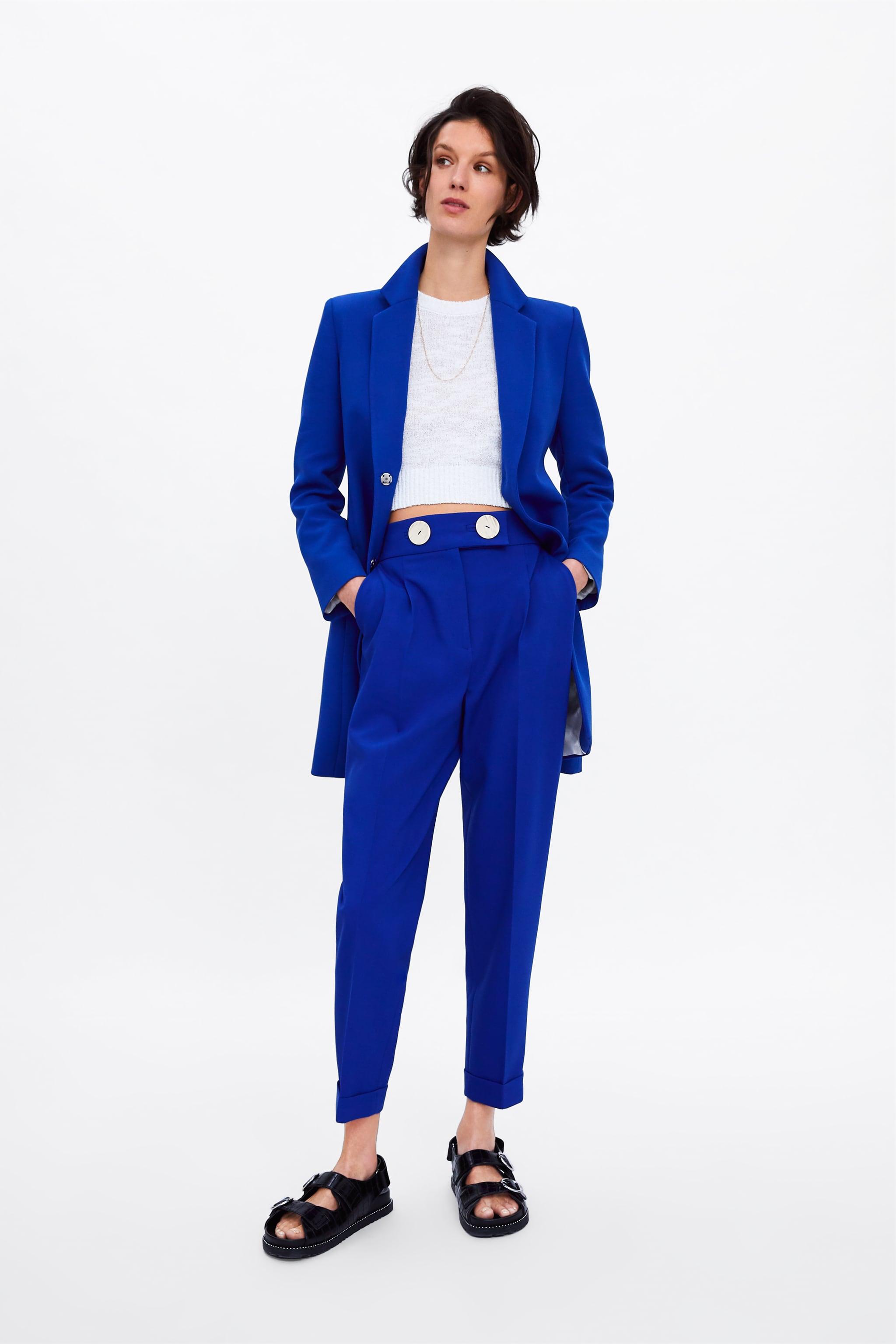 Zara LAPEL COLLAR FROCK COAT