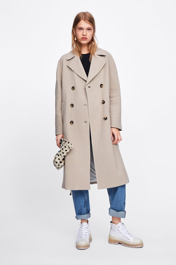 LONG DOUBLE BREASTED COAT