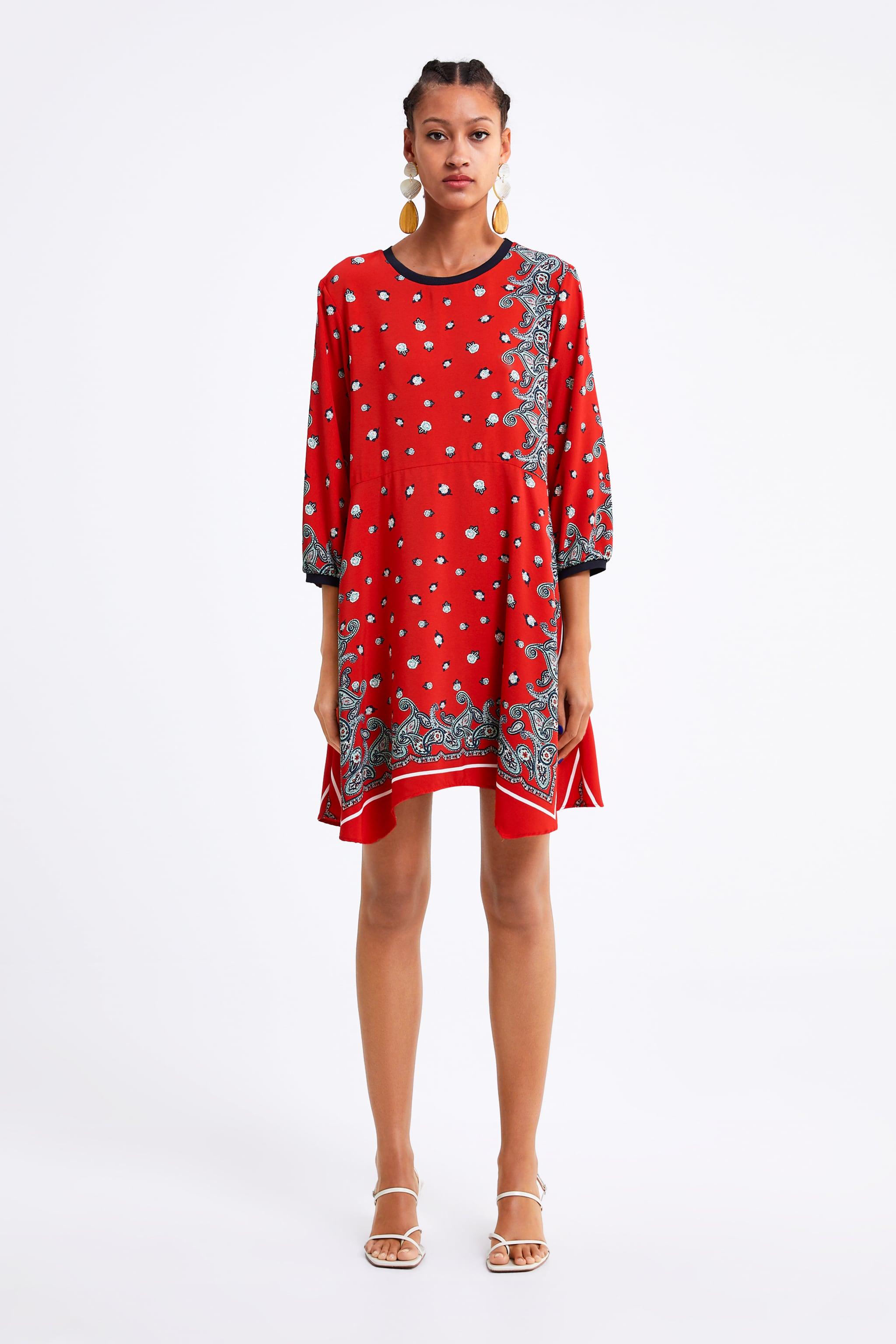 99ee2a28e Zara PRINT DRESS