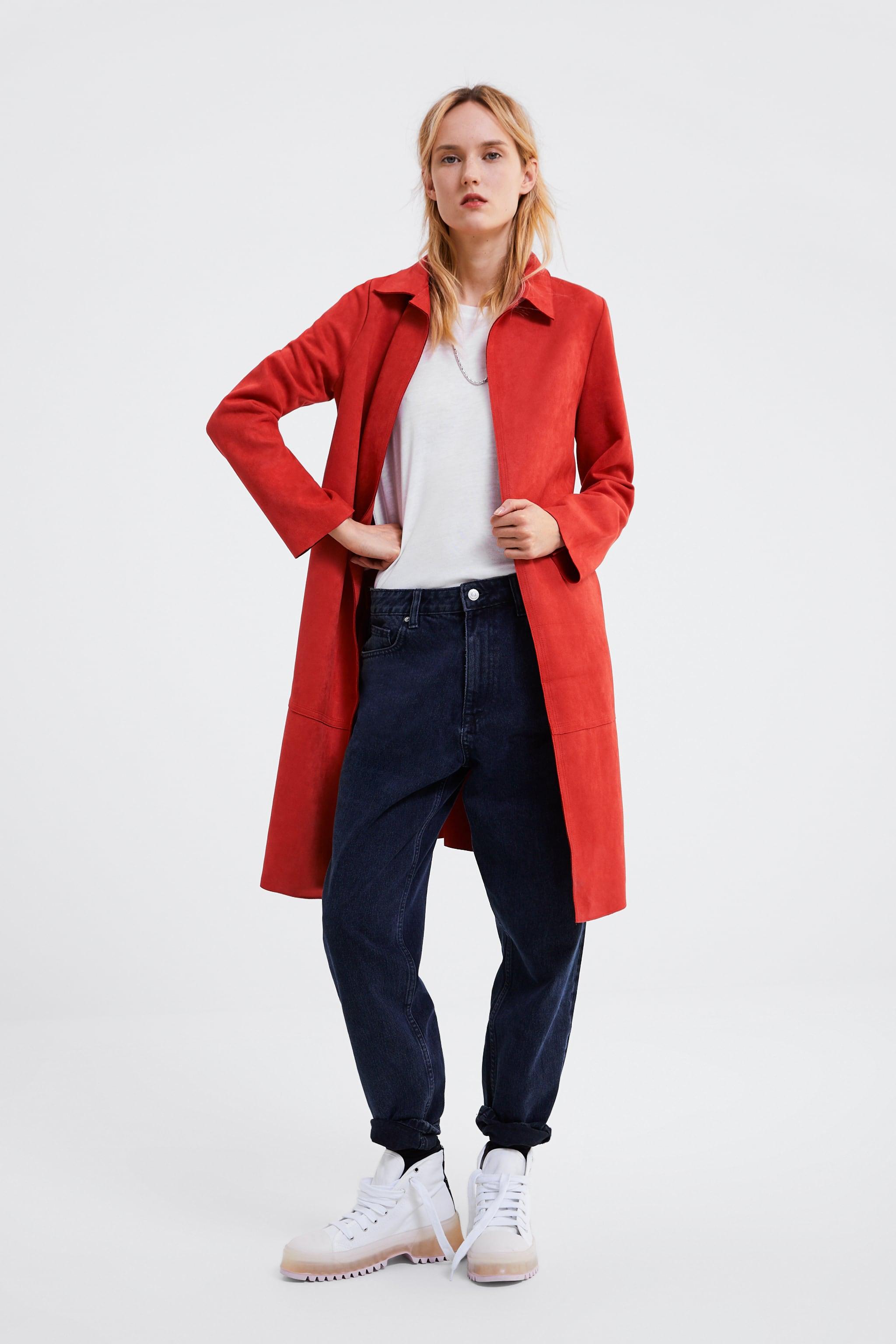 Zara SUEDE LOOK COAT