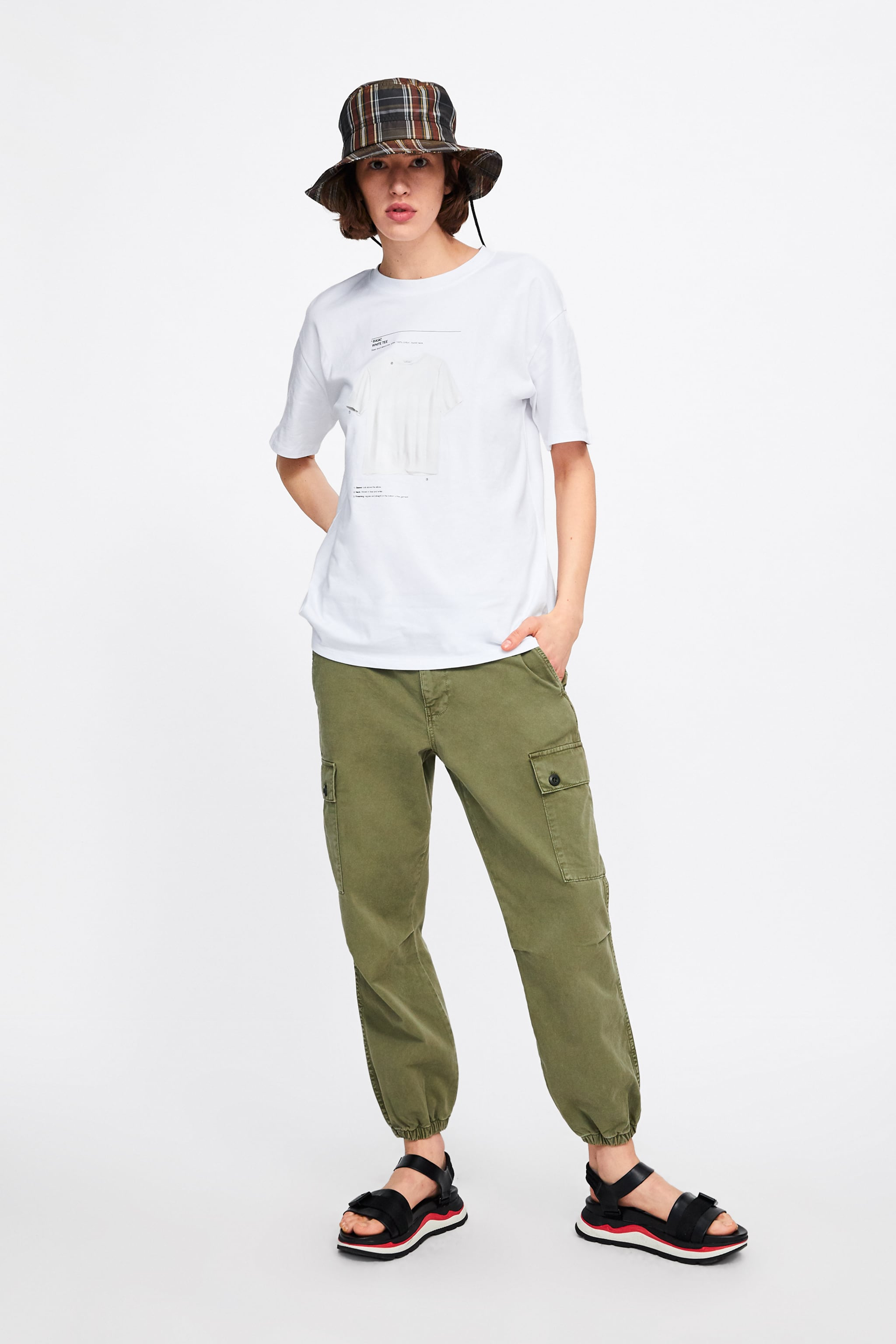 57486af5be6 Zara T-SHIRT WITH FRONT PRINT