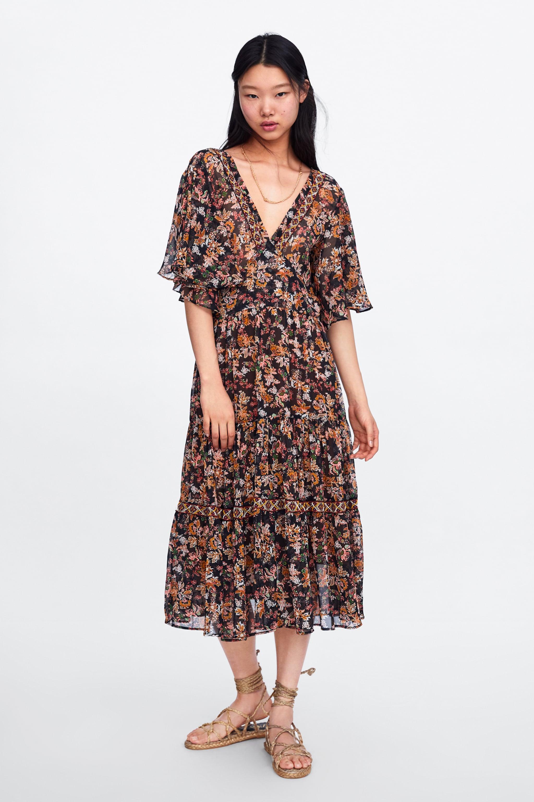 fd7334c8d Zara FLORAL PRINT DRESS