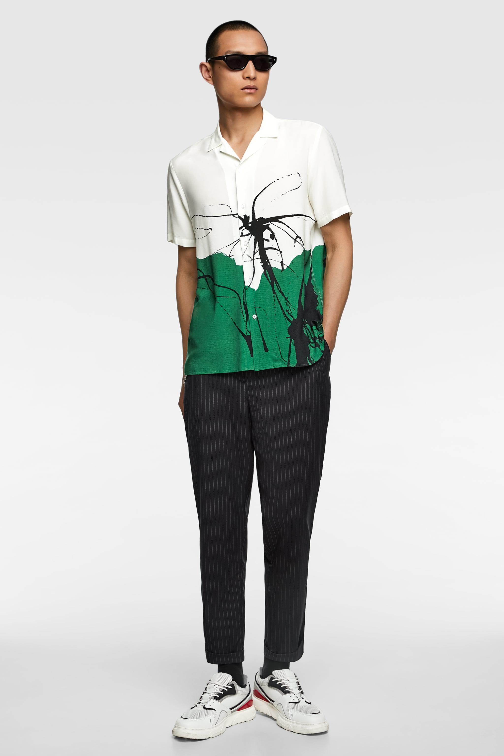 Zara ABSTRACT PRINT SHIRT