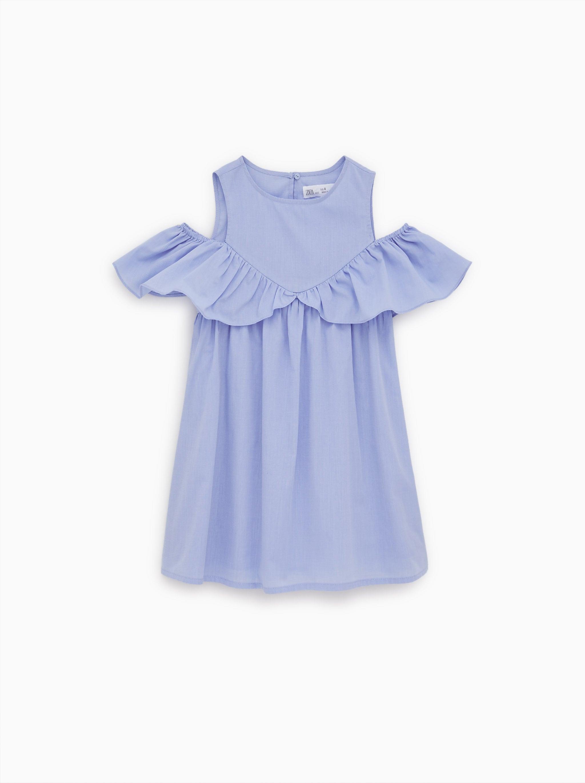 aca1772d376 Zara END-ON-END RUFFLE DRESS