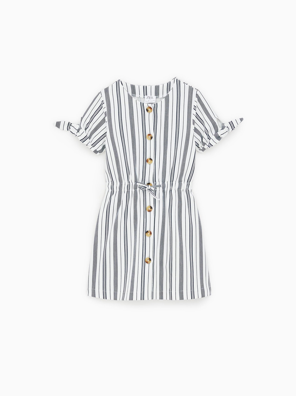 c5f0d963352 Zara PLUSH DRESS WITH BUTTONS