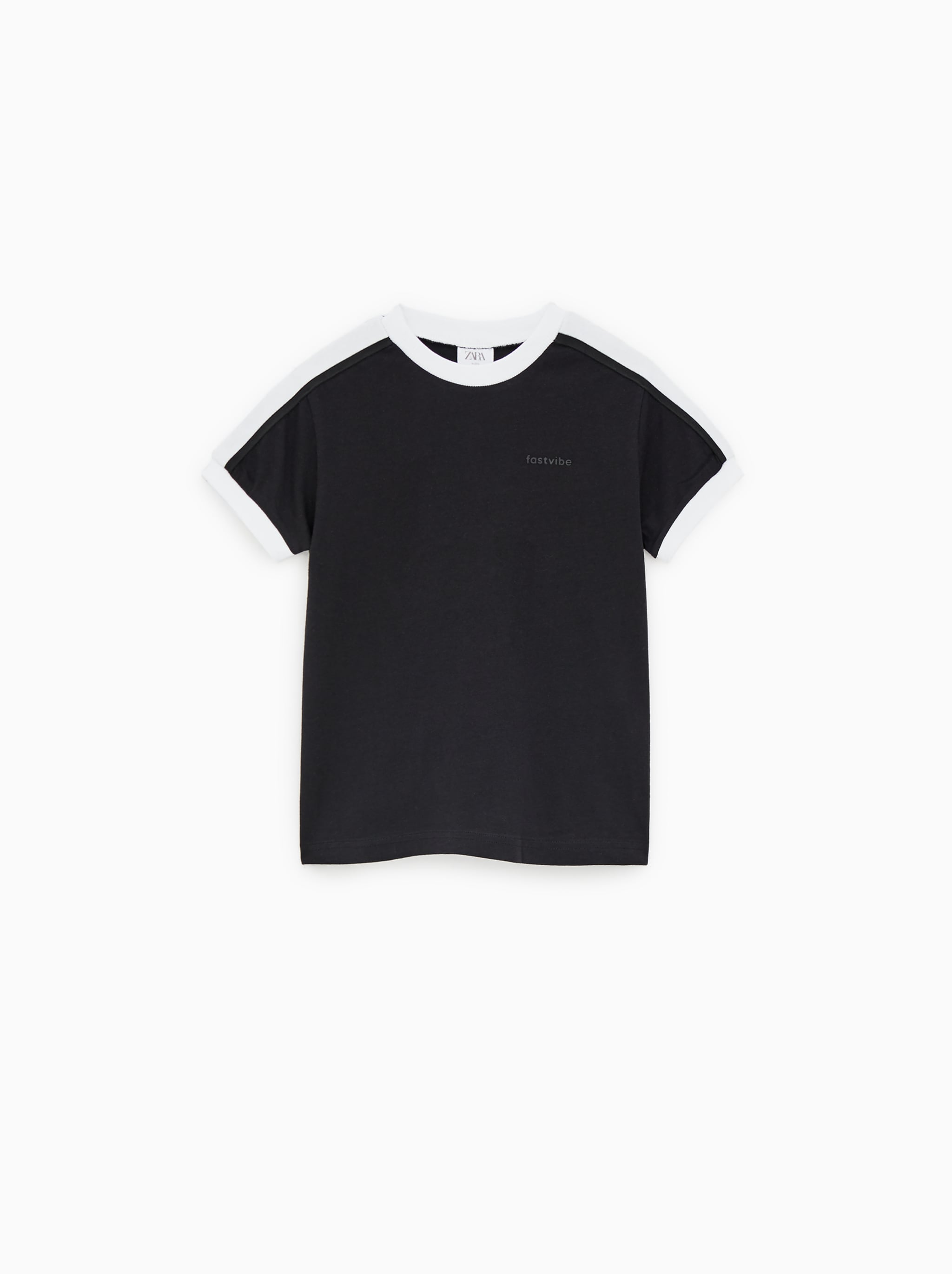 a59acdf99 Zara T-SHIRT WITH BANDS