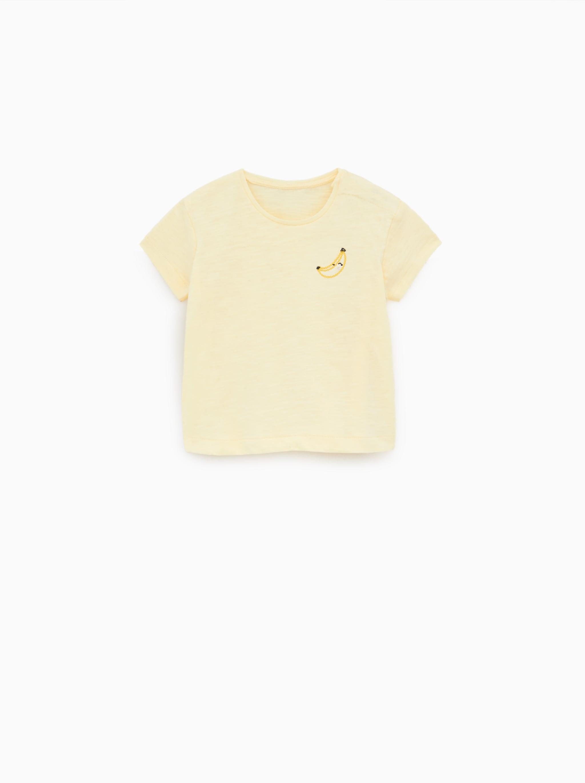 ff4c1b14 Zara EMBROIDERED T-SHIRT