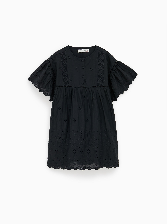 3551e56dadc Zara EMBROIDERED DRESS