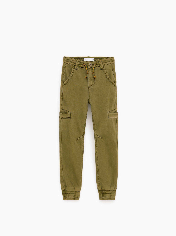 Zara CARGO JOGGING PANTS dfa6c05a701