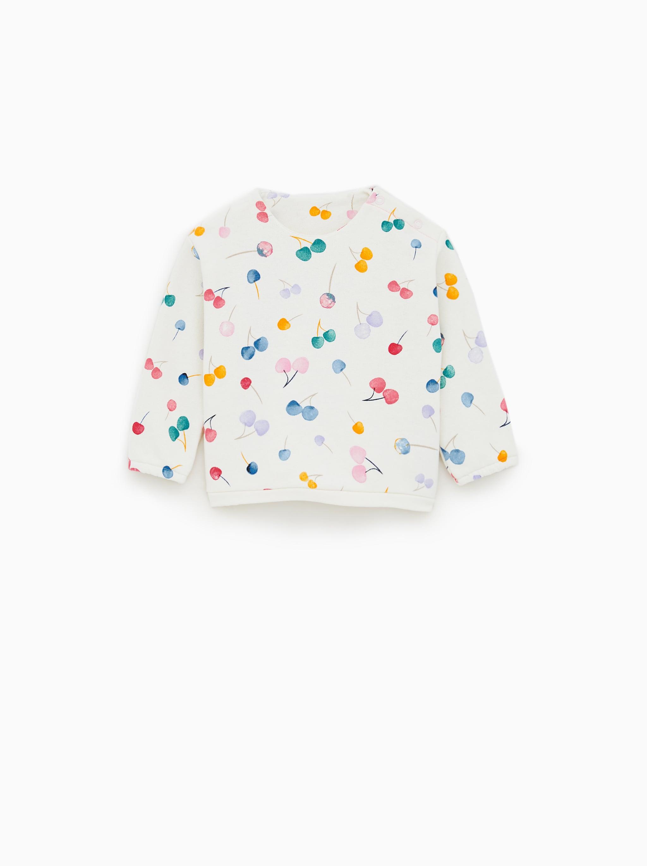 Zara CHERRY SWEATSHIRT 0e8b8513df0