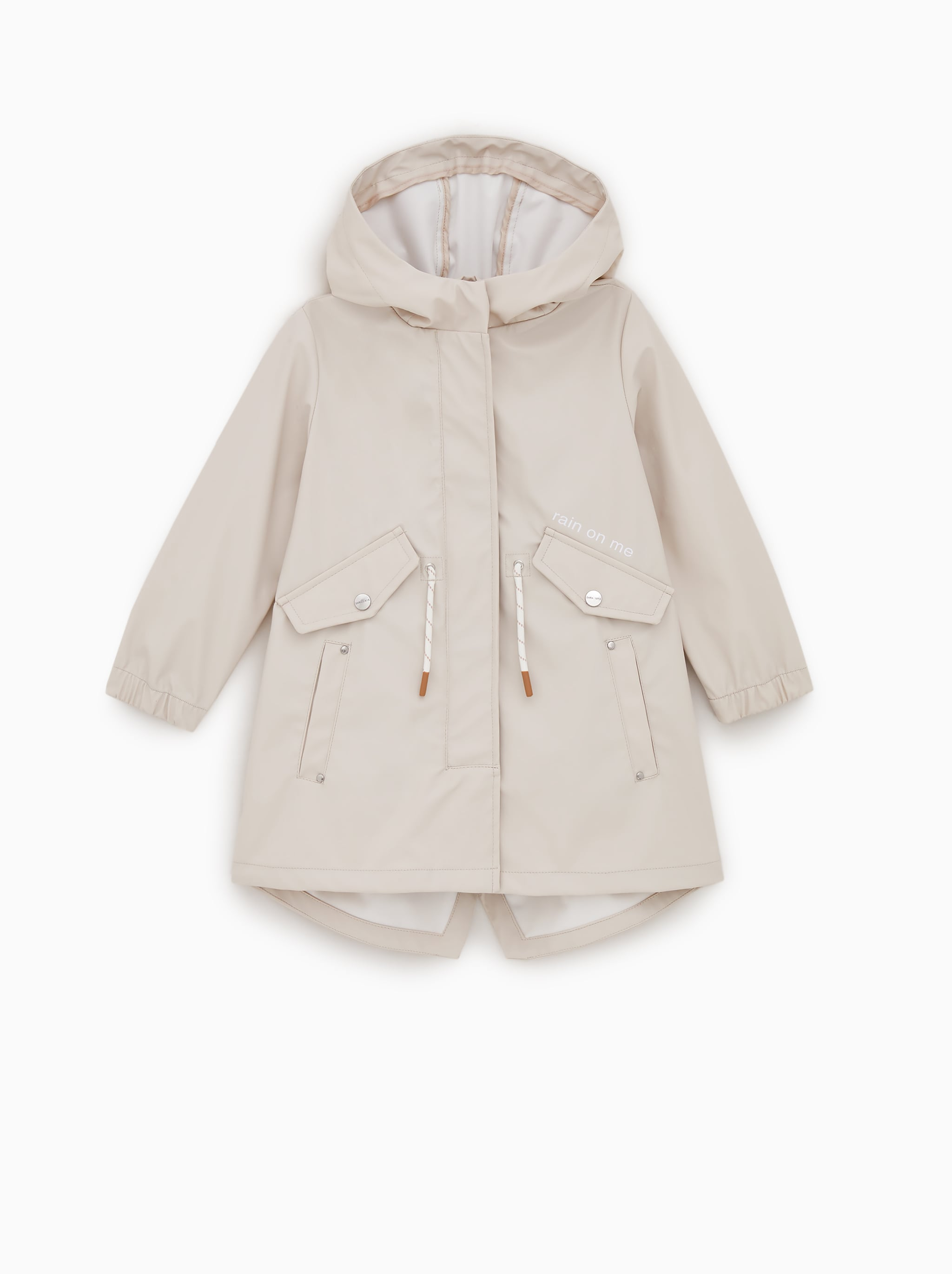 RUBBERIZED PARKA WITH DRAWSTRINGS