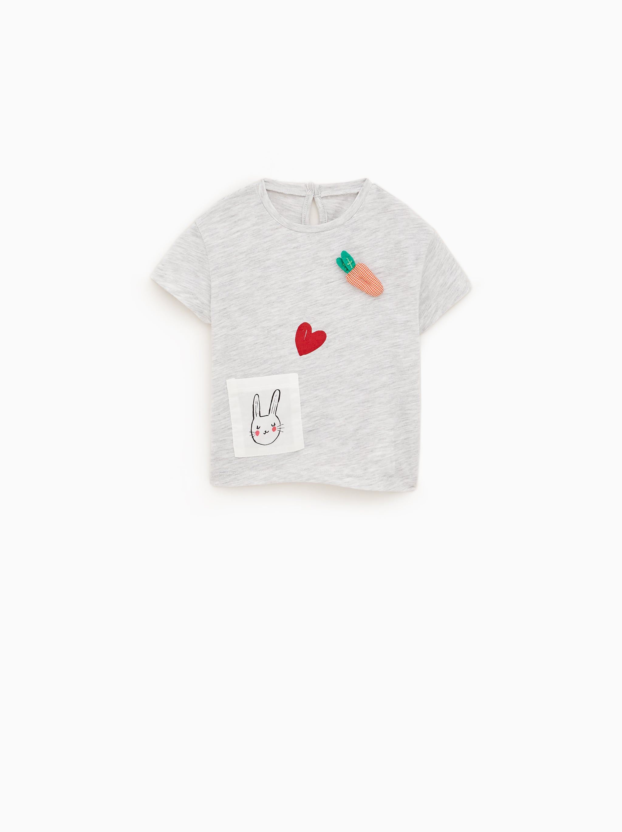 BUNNY APPLIQUEE T-SHIRT