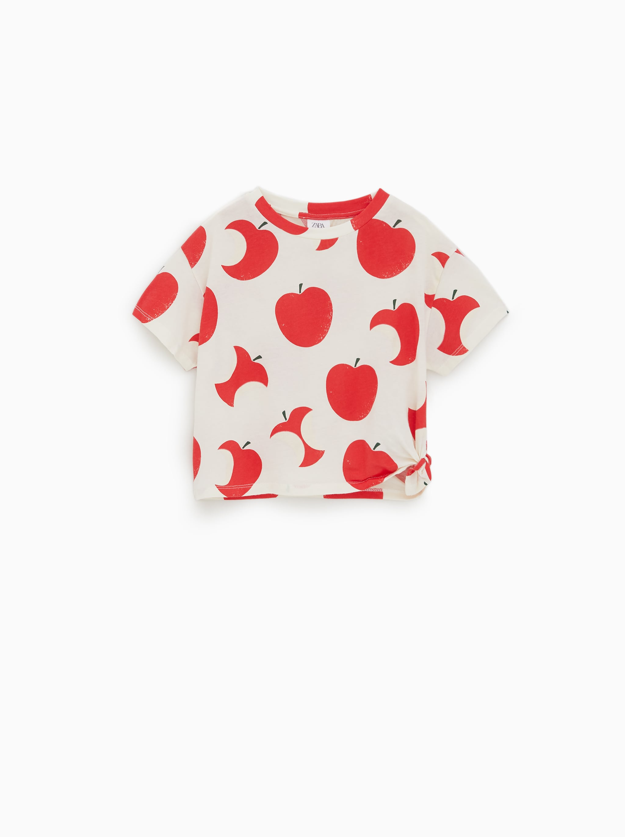 9ee5c71e Zara KNOTTED PRINTED T-SHIRT