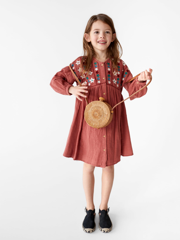 59692d4e2a69 Zara EMBROIDERED DRESS