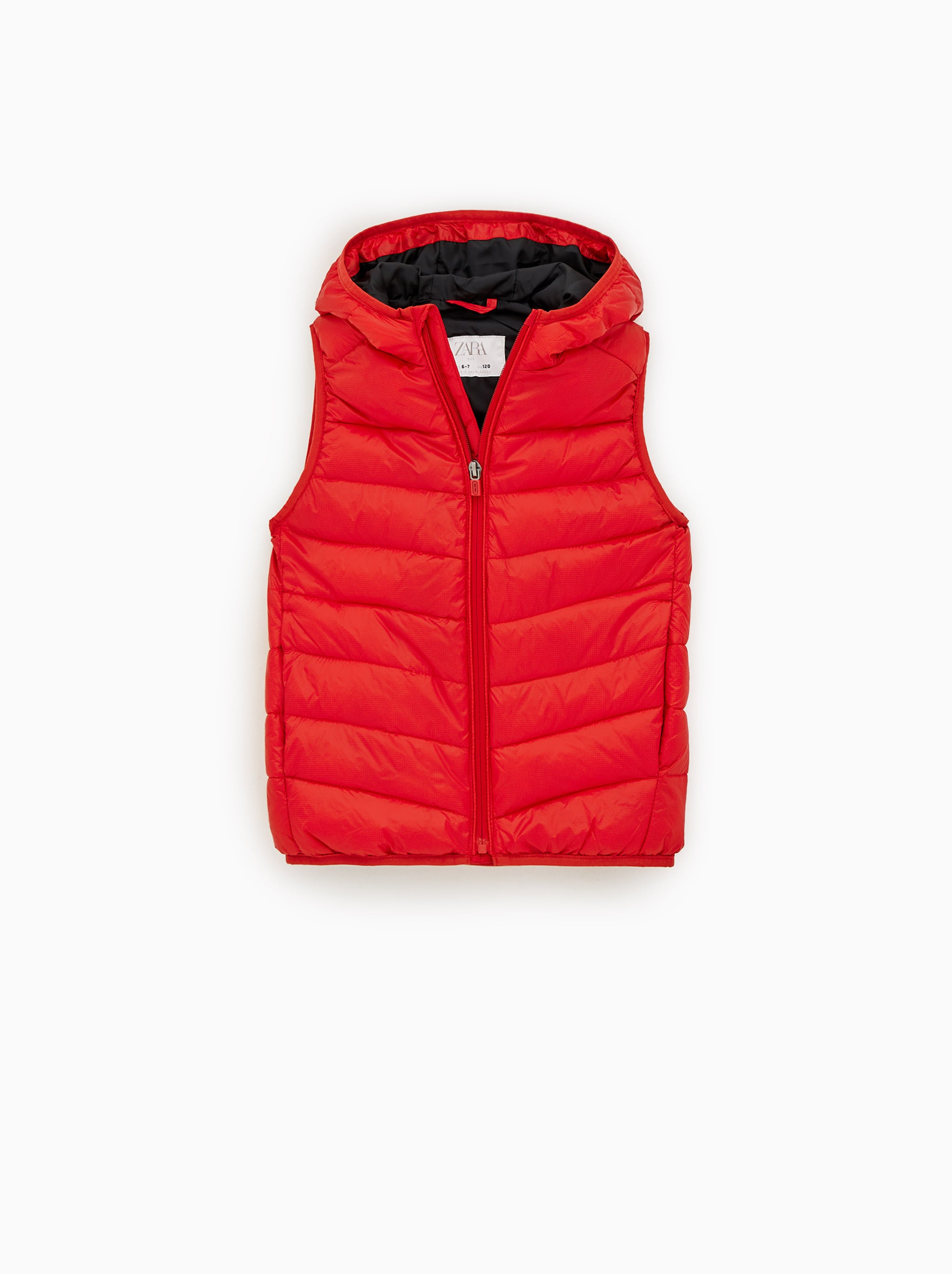 Zara QUILTED VEST WITH HOOD 59d7d175e