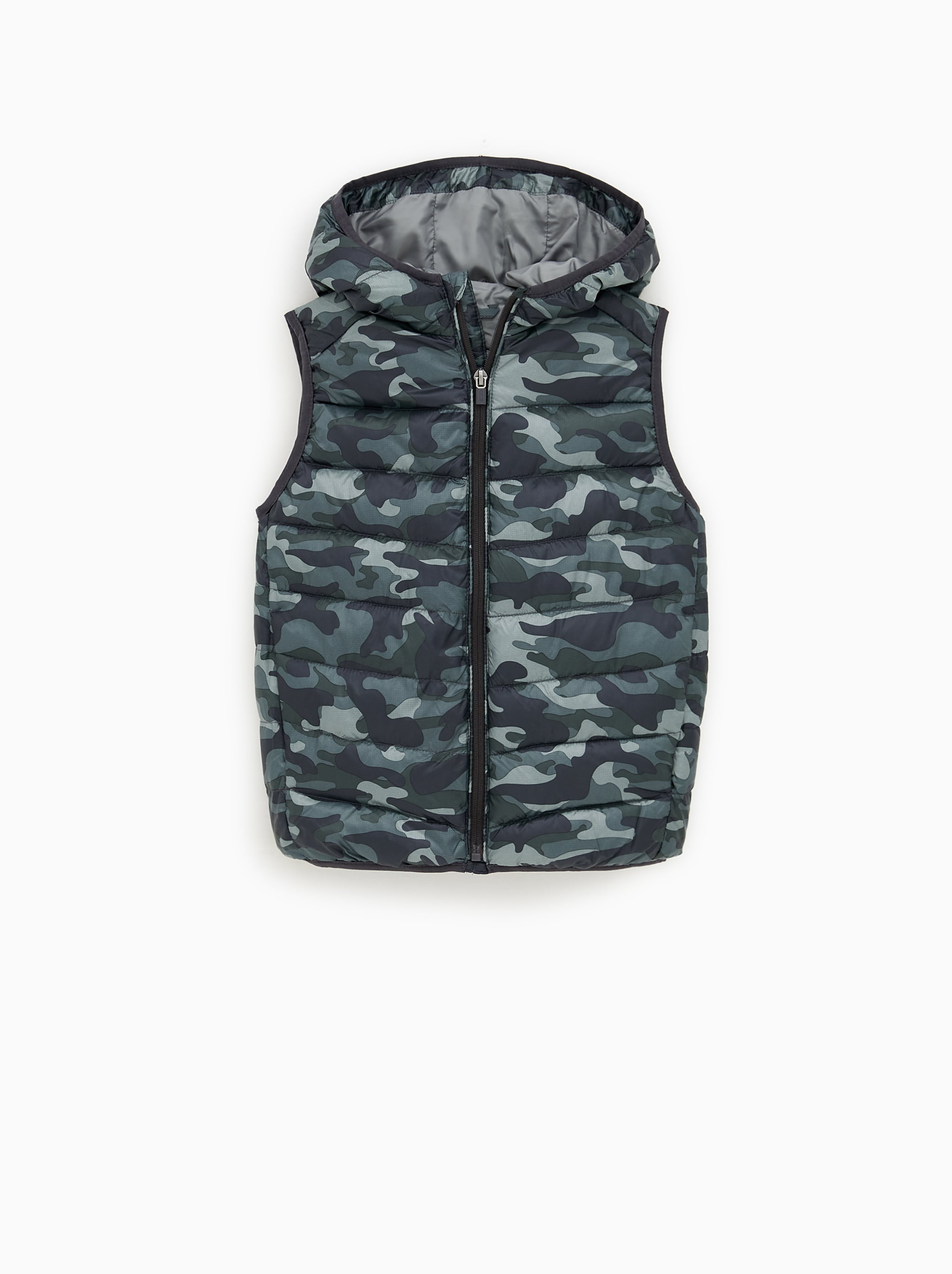 Zara QUILTED VEST WITH HOOD 30a512a5bc630