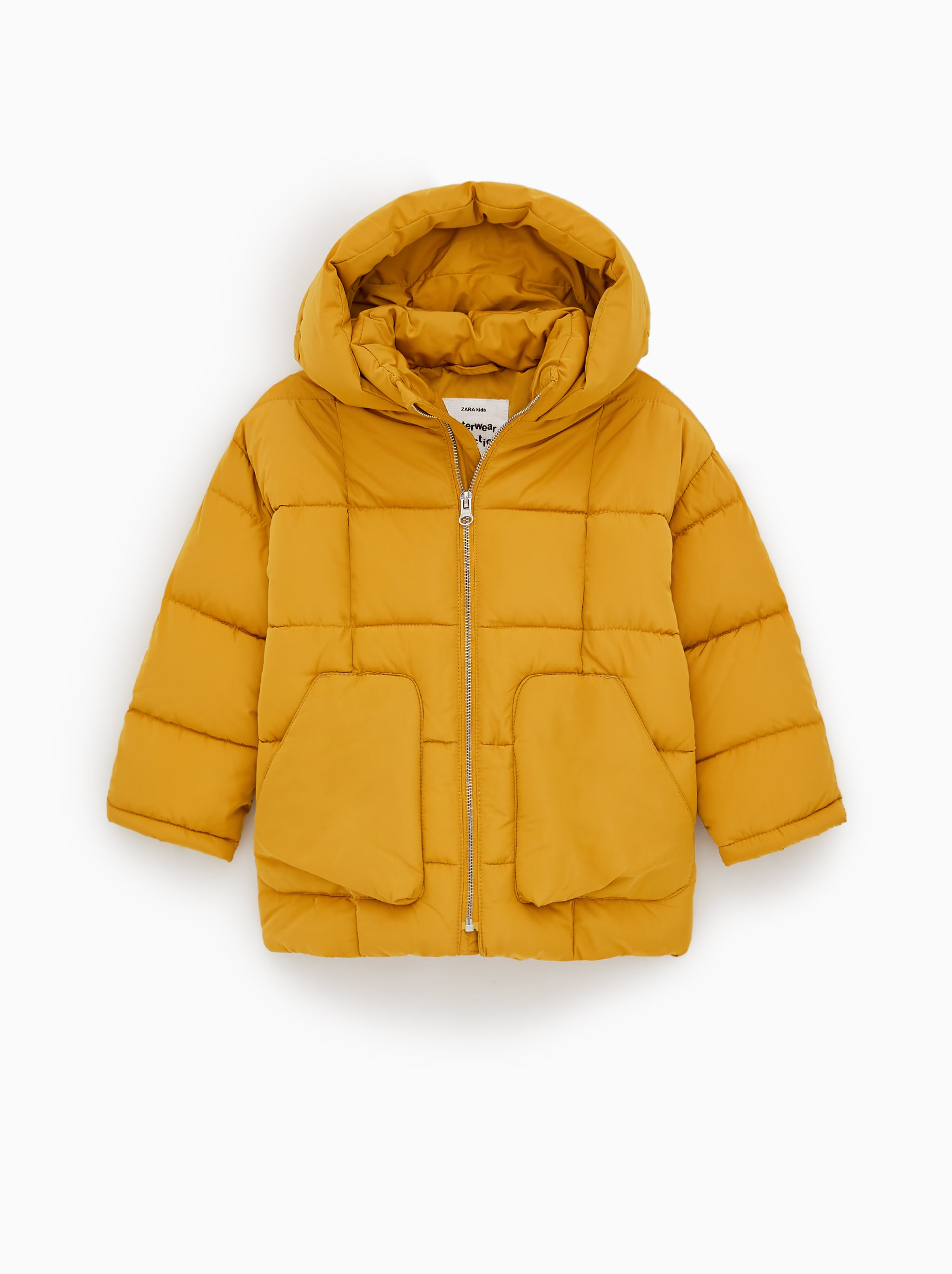 Zara SQUARE QUILTED PUFFER JACKET 8e510a882b0