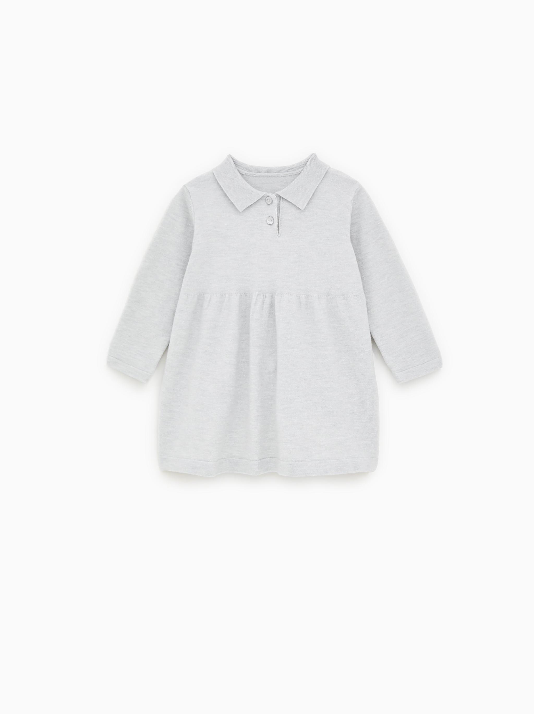 Zara KNIT POLO NECK DRESS
