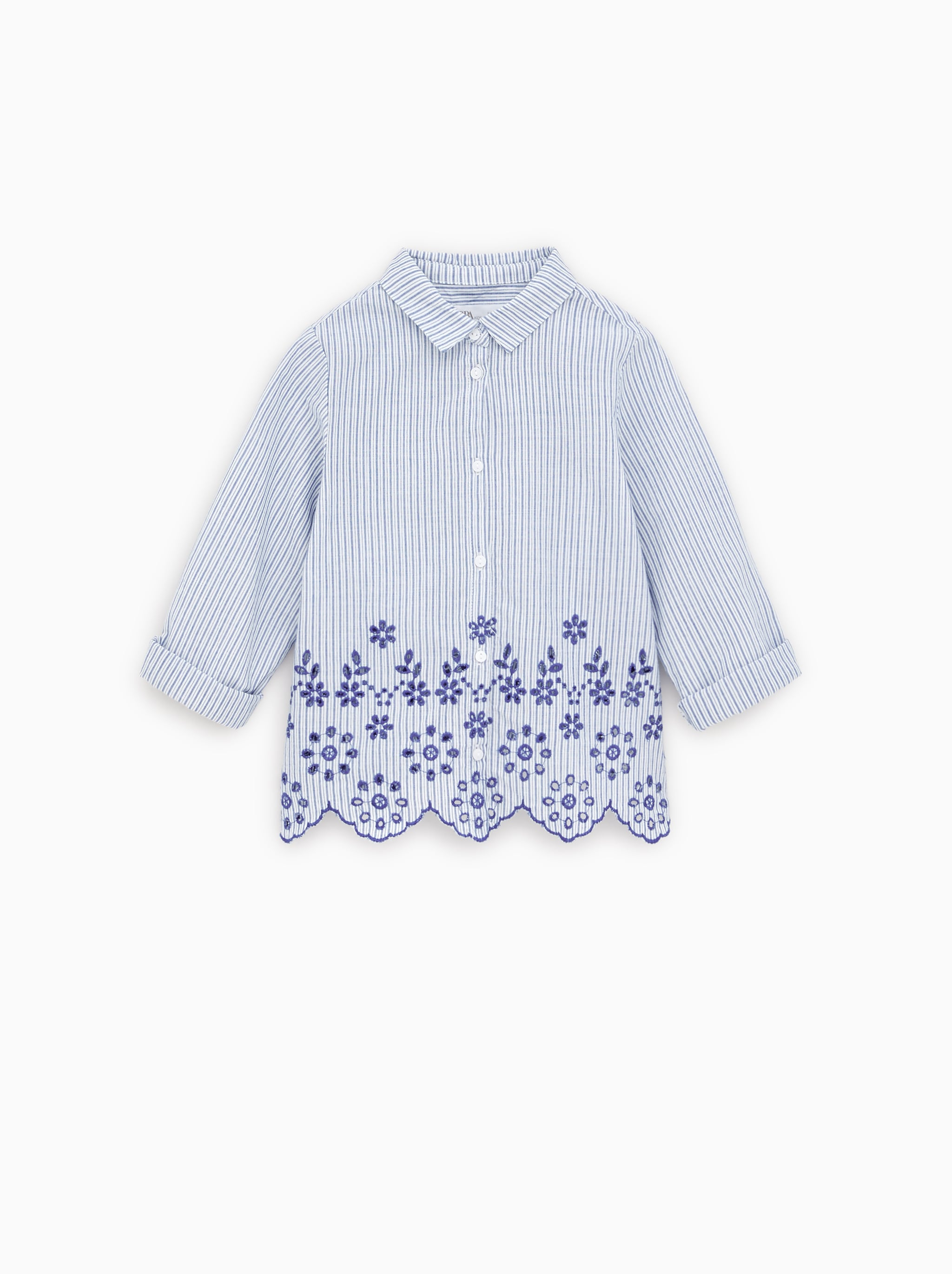 88cad7ac062c Zara BLOUSE WITH SWISS EMBROIDERY