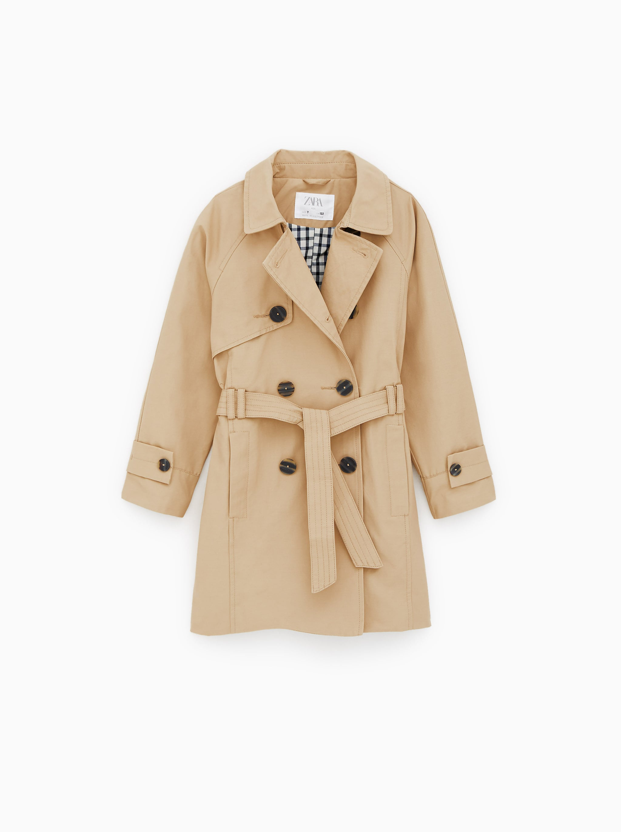 6d09d2744395 Zara BASIC BELTED TRENCH COAT