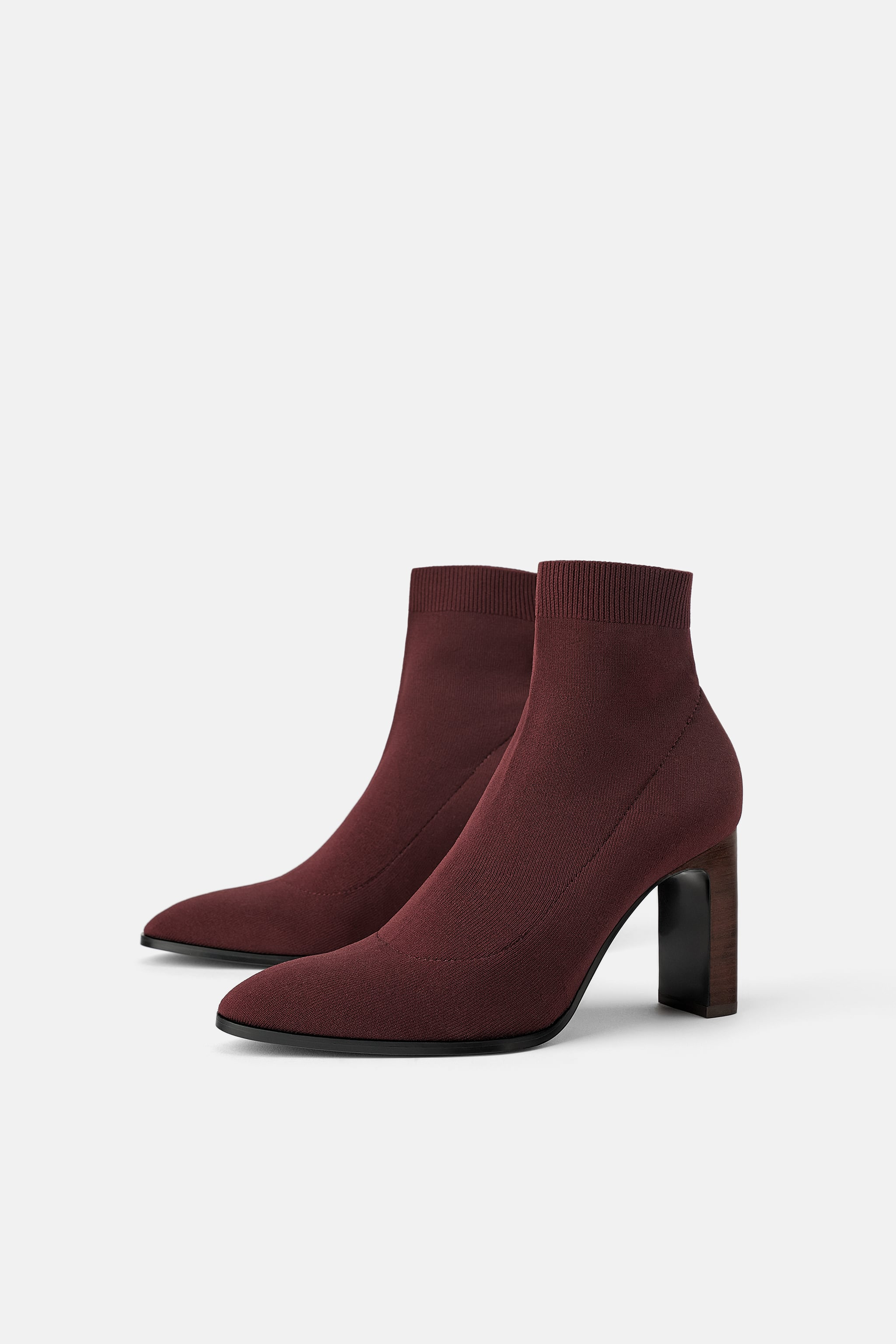 Zara HEELED SOCK-STYLE ANKLE BOOTS 85c6b7ae5ff