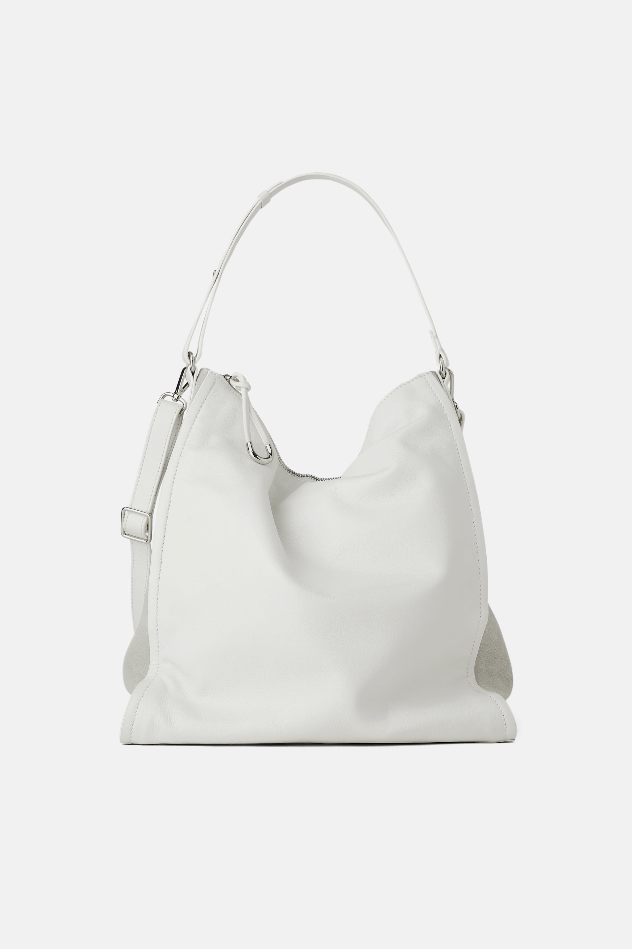5675f4753d57 Zara TUMBLED SOFT LEATHER BUCKET BAG