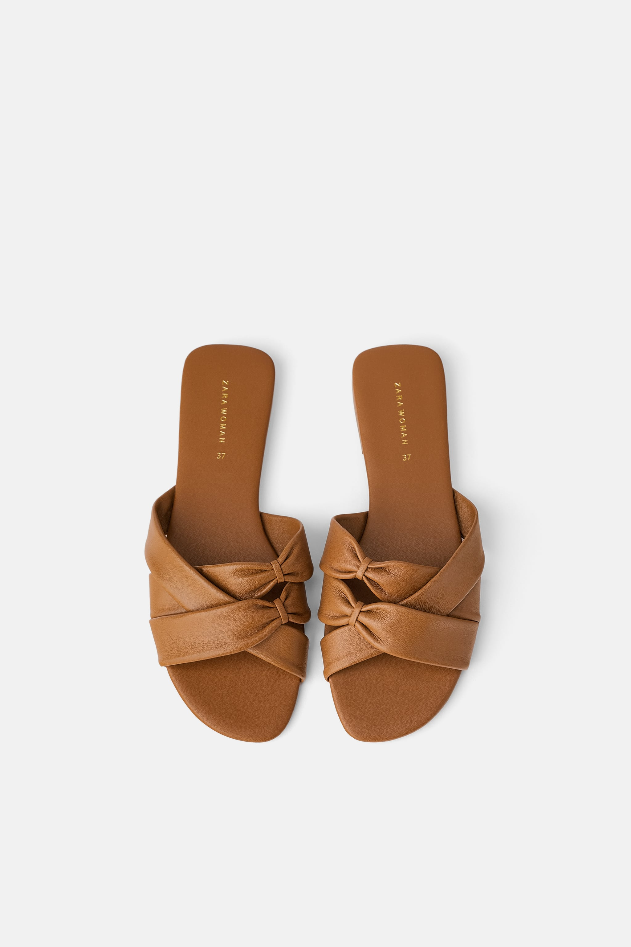 5b446dace30b Zara LOW-HEELED STRAPPY LEATHER SANDALS