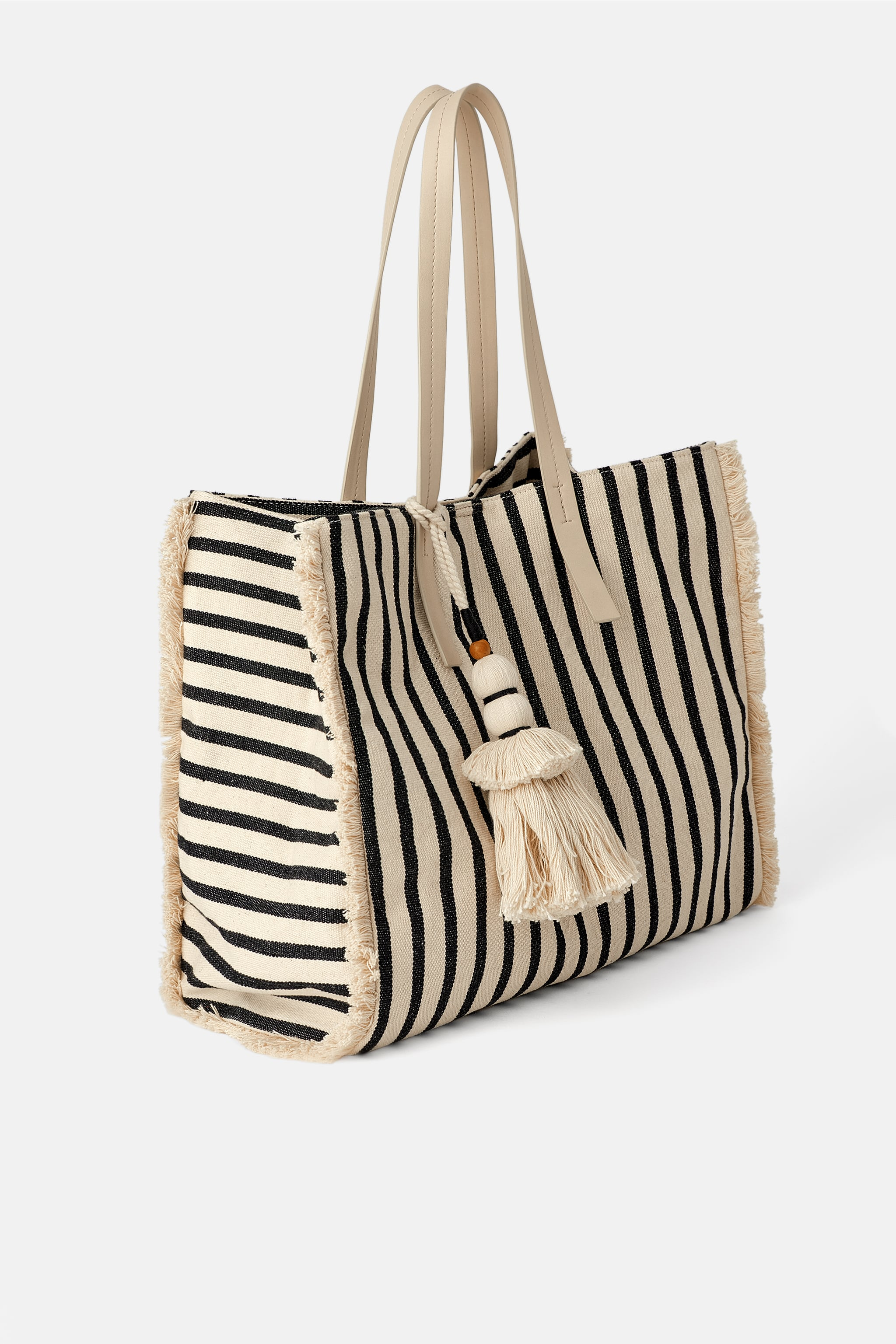 656da1ac80 Zara FRAYED SHOPPER BAG