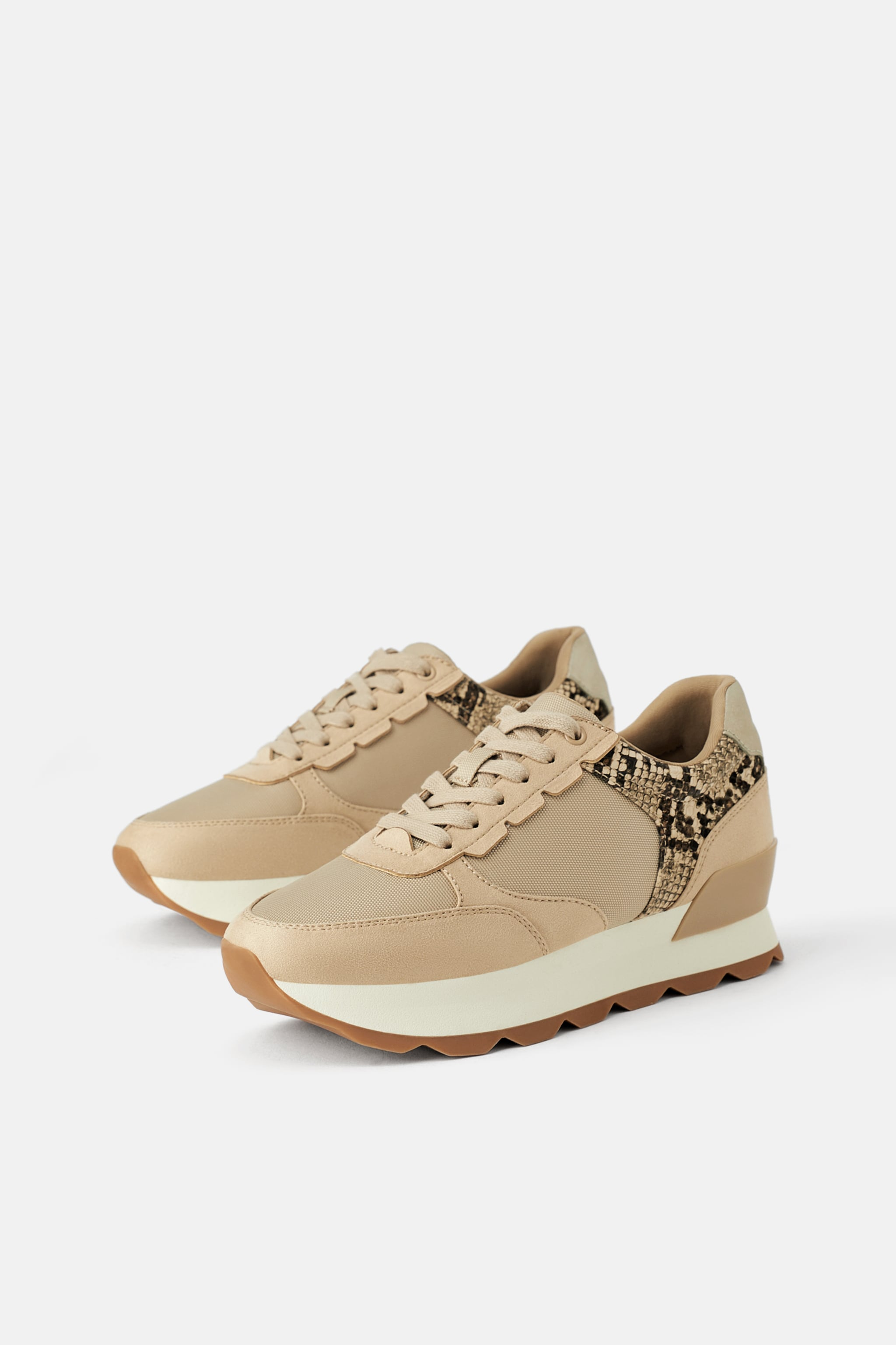 4128f1cae Zara SNEAKERS WITH ANIMAL PRINT PIECES