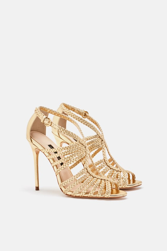 HEELED SANDAL WITH BRAIDED STRAPS