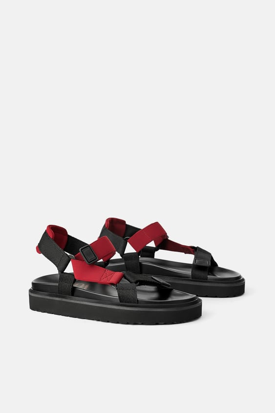 STRAPPY FLAT ATHLETIC SANDALS