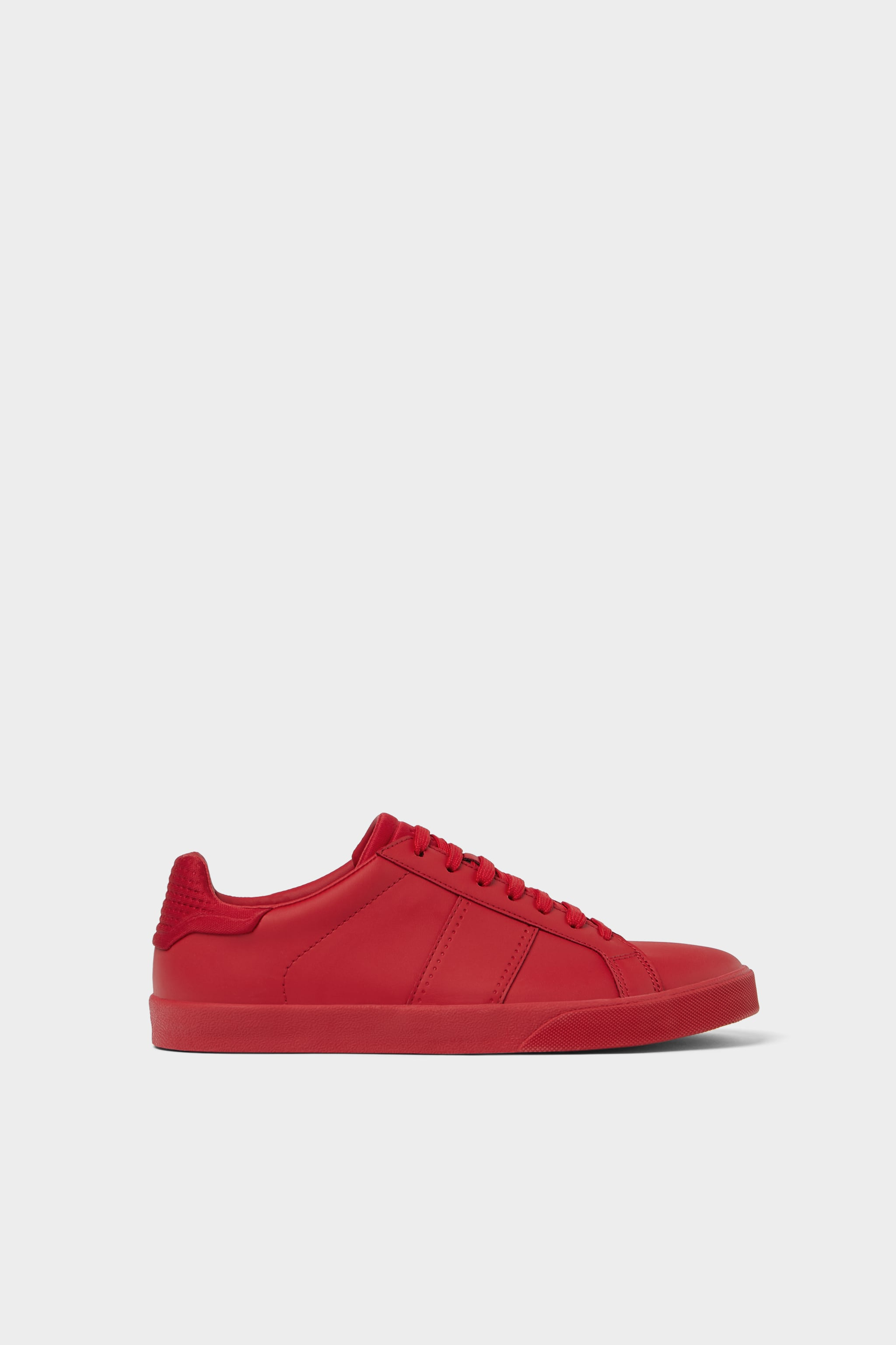 Zara QUILTED RED SNEAKERS 0bc400d2c73