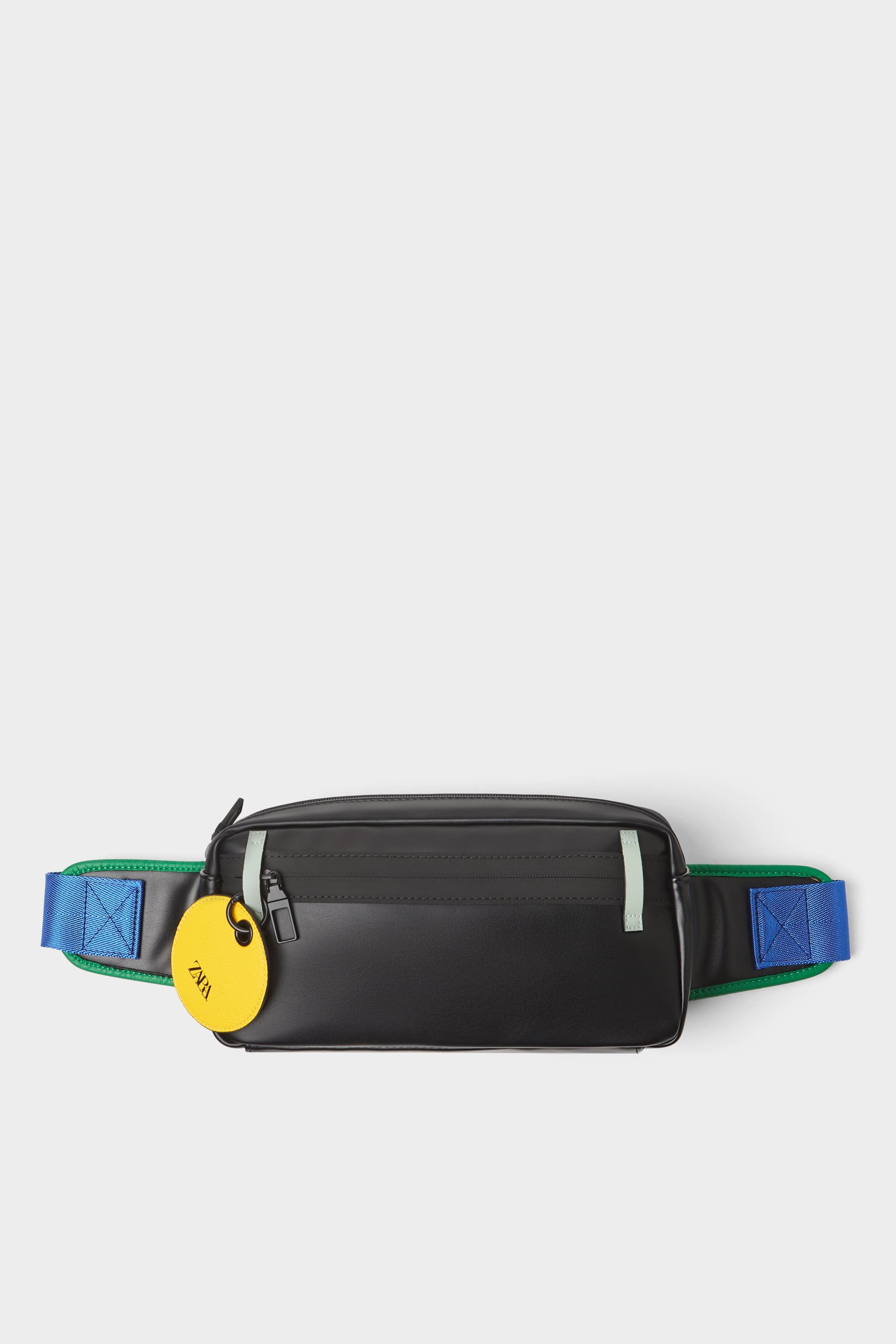 ddd81a0d90c1 Zara BLACK BELT BAG WITH COLOR TRIM