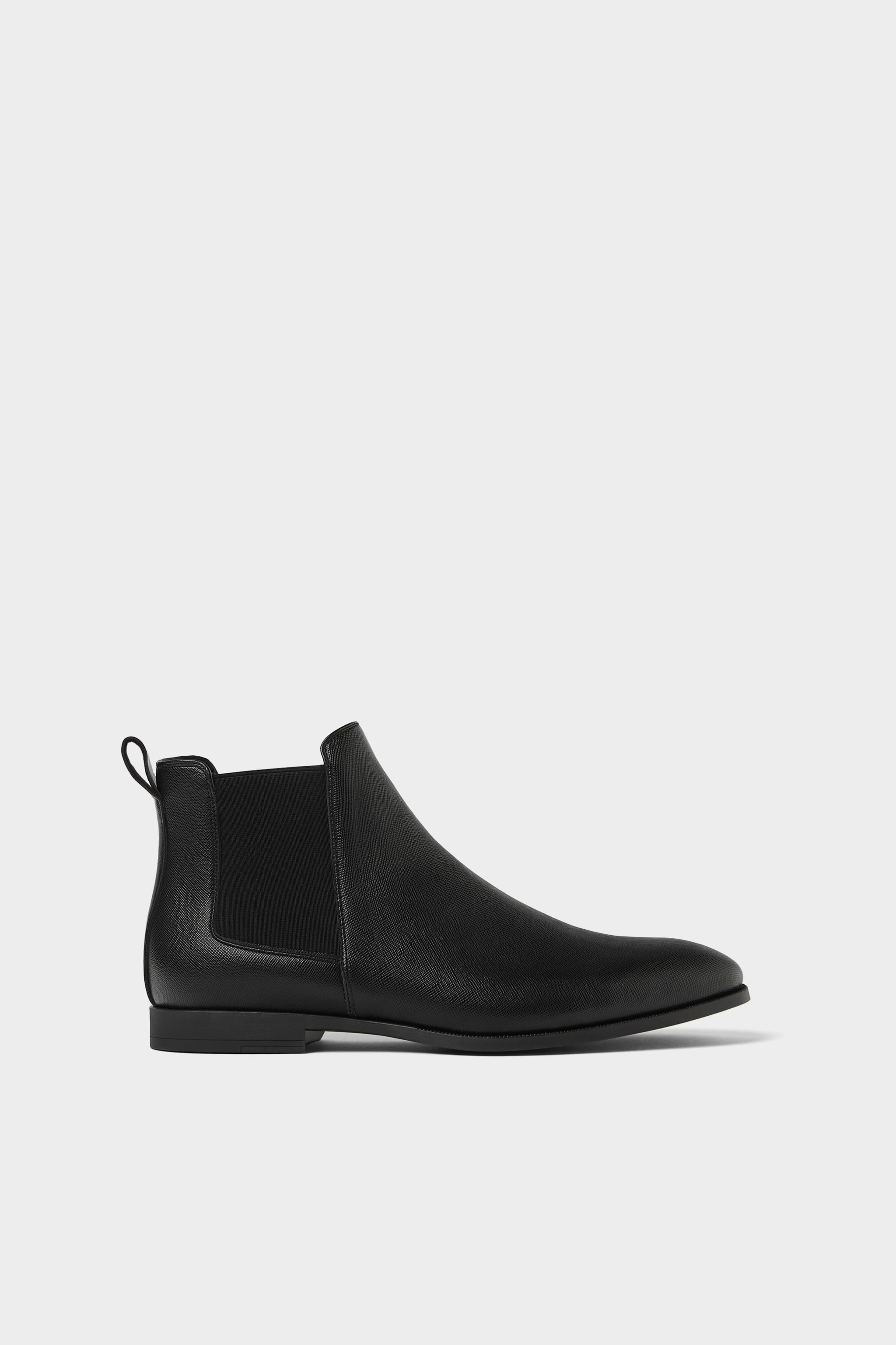 8f00a6d6a9 Zara BLACK EMBOSSED ANKLE BOOTS