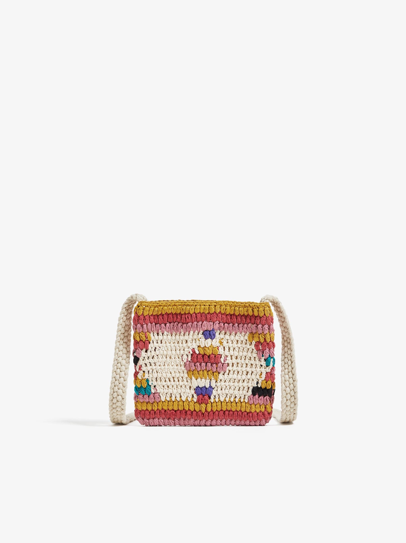 2d8ef410a141b Zara MULTICOLORED CROCHET CROSSBODY BAG