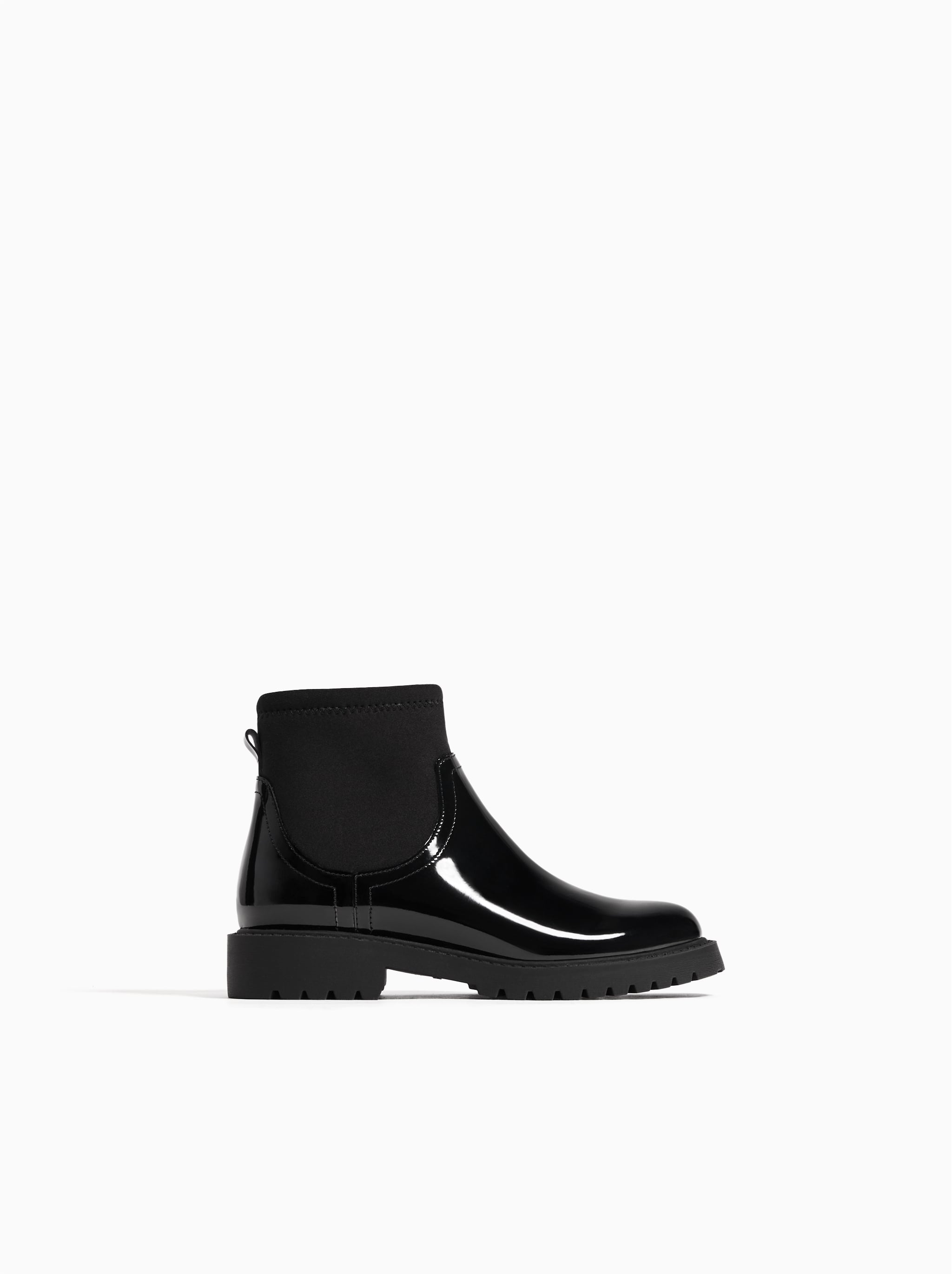 5d2ff5fa Zara PATENT FINISH ANKLE BOOTS