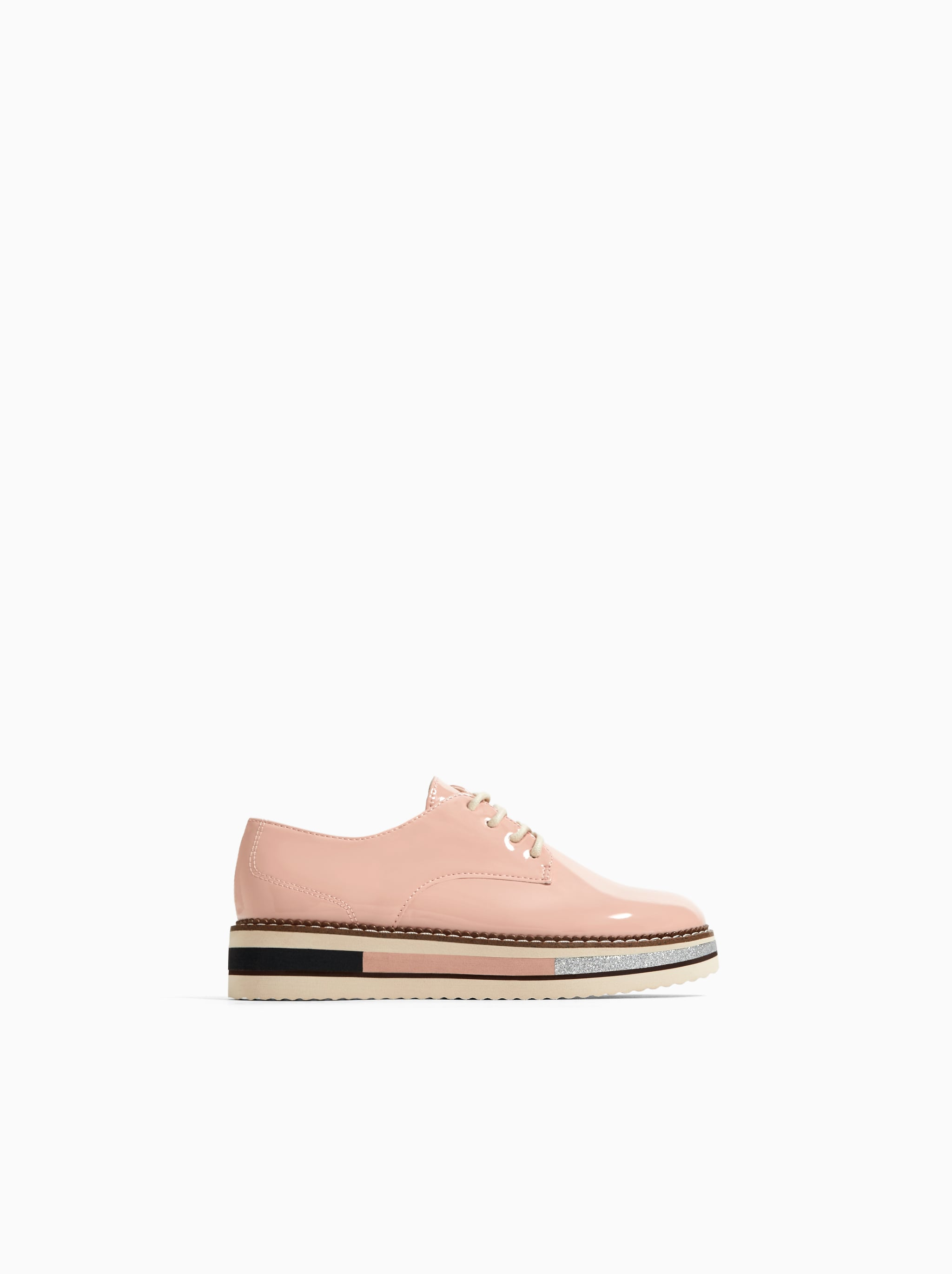 the latest 093c7 9c803 Zara DETAILED SOLE DERBY SHOES