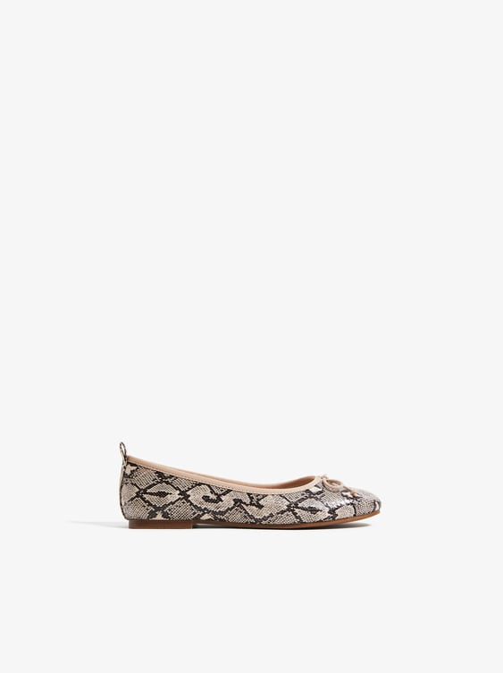 Zara SNAKE PRINT BALLET FLATS