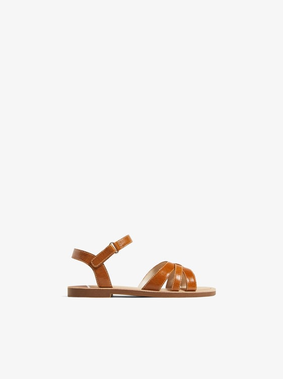 Zara COLORFUL LEATHER SANDALS