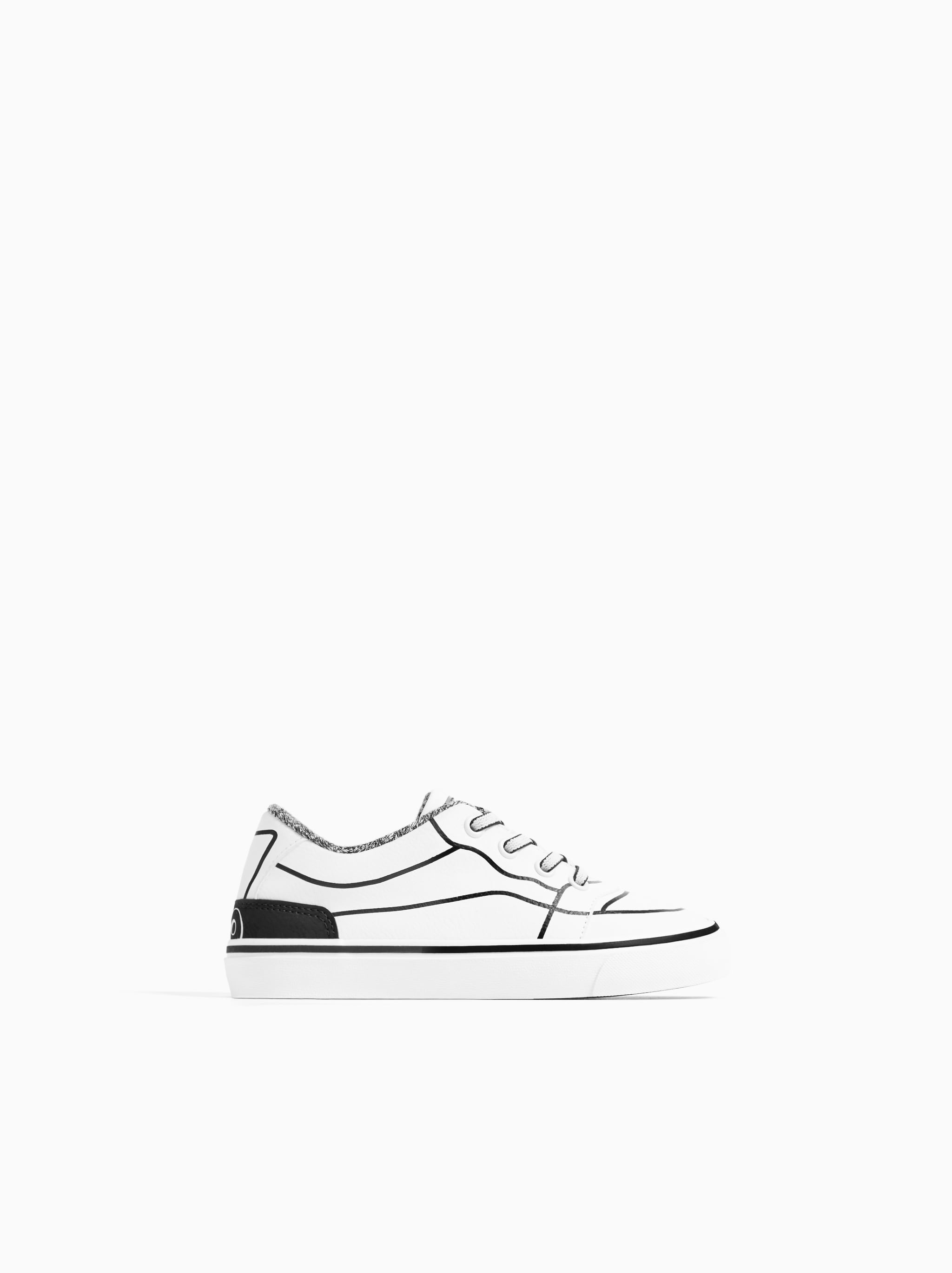 2a534cd9f7 Zara OUTLINED SNEAKERS
