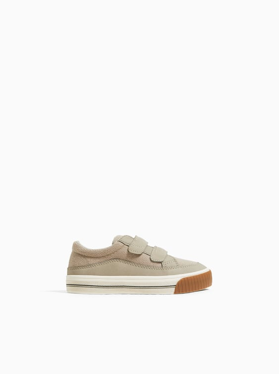Zara CONTRAST PLIMSOLLS WITH HOOK-AND-LOOP STRAPS
