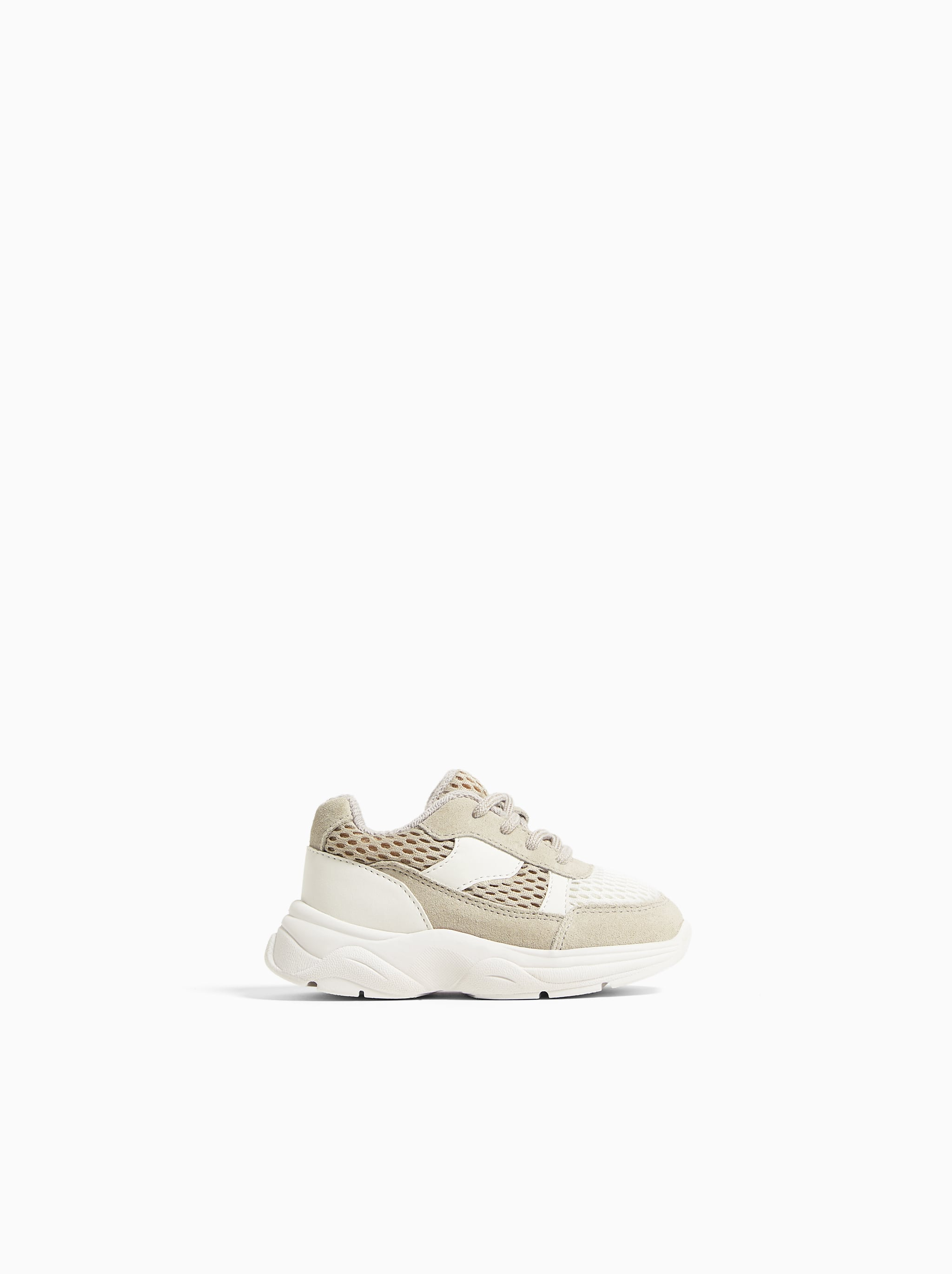 9e0f28bb55 Zara LEATHER AND MESH SNEAKERS