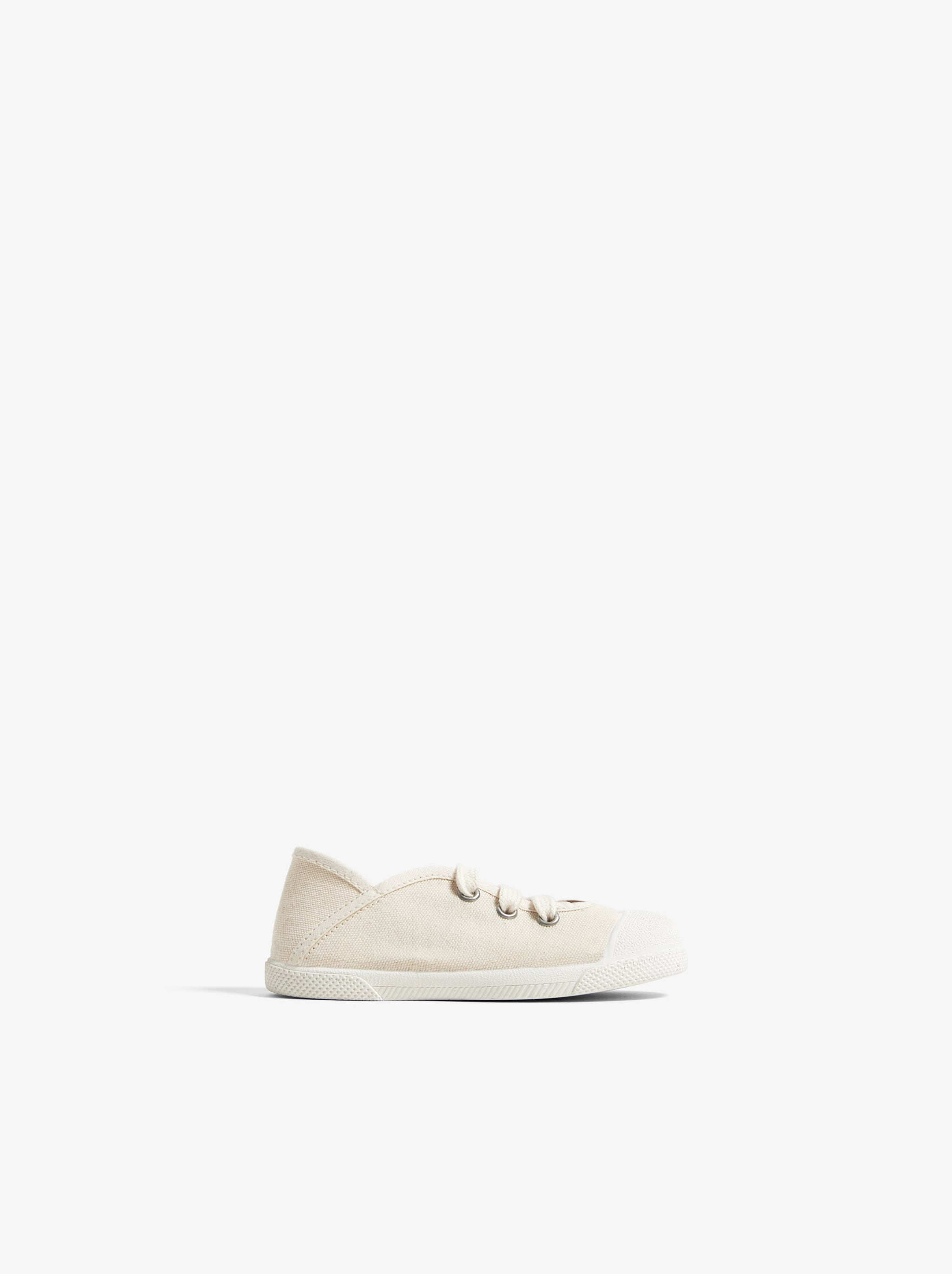Zara LACED SNEAKERS WITH TOE CAP