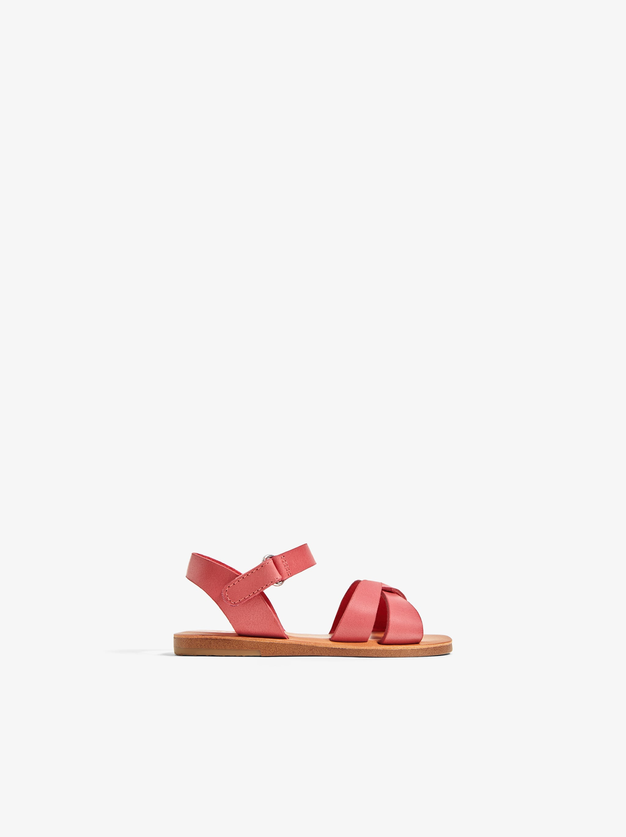 Zara LEATHER SANDALS WITH STRAPS