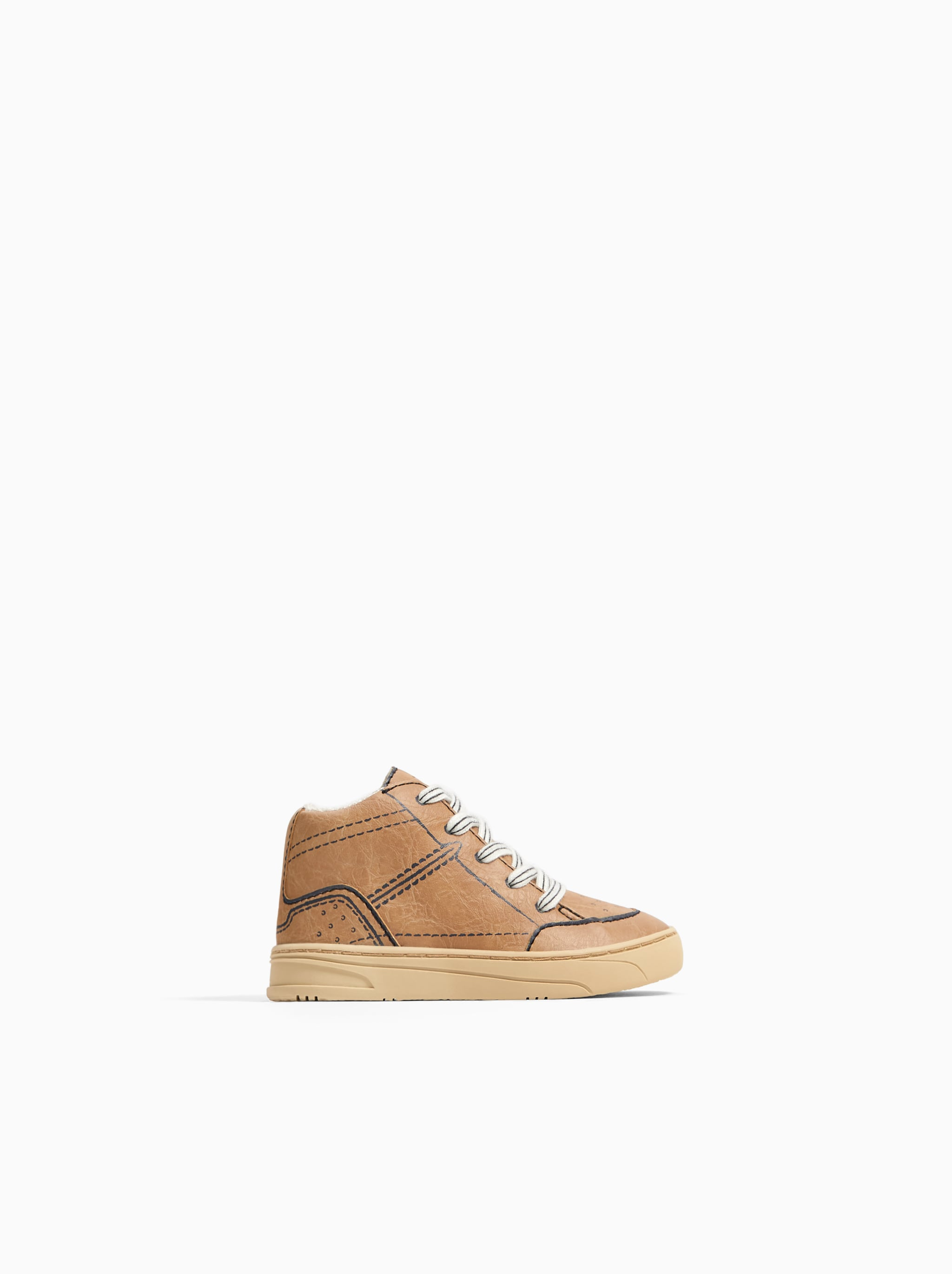 b49d4292b860 Zara OUTLINED HIGH TOP SNEAKERS
