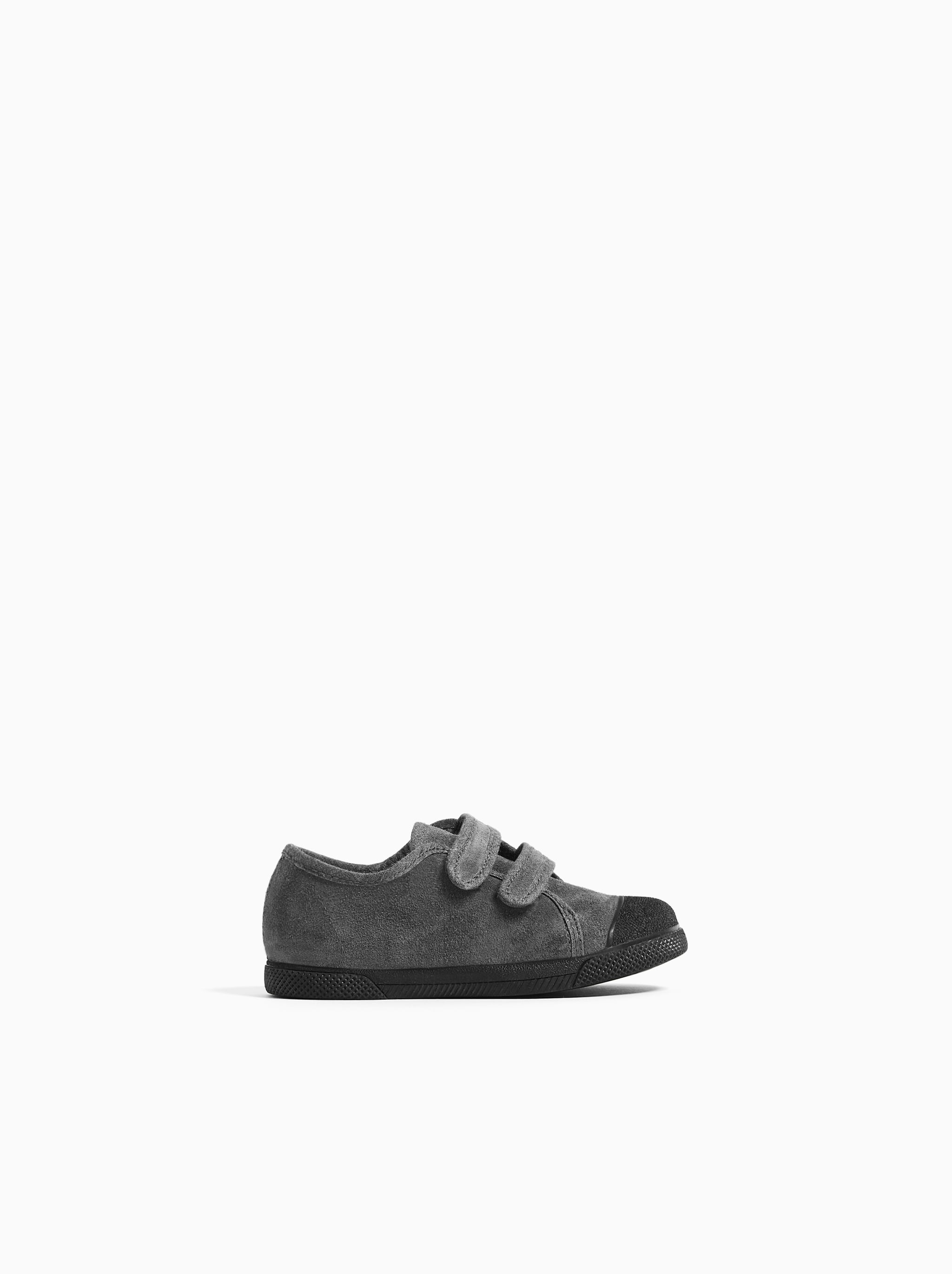 Zara LEATHER SNEAKERS WITH ADJUSTABLE STRAPS