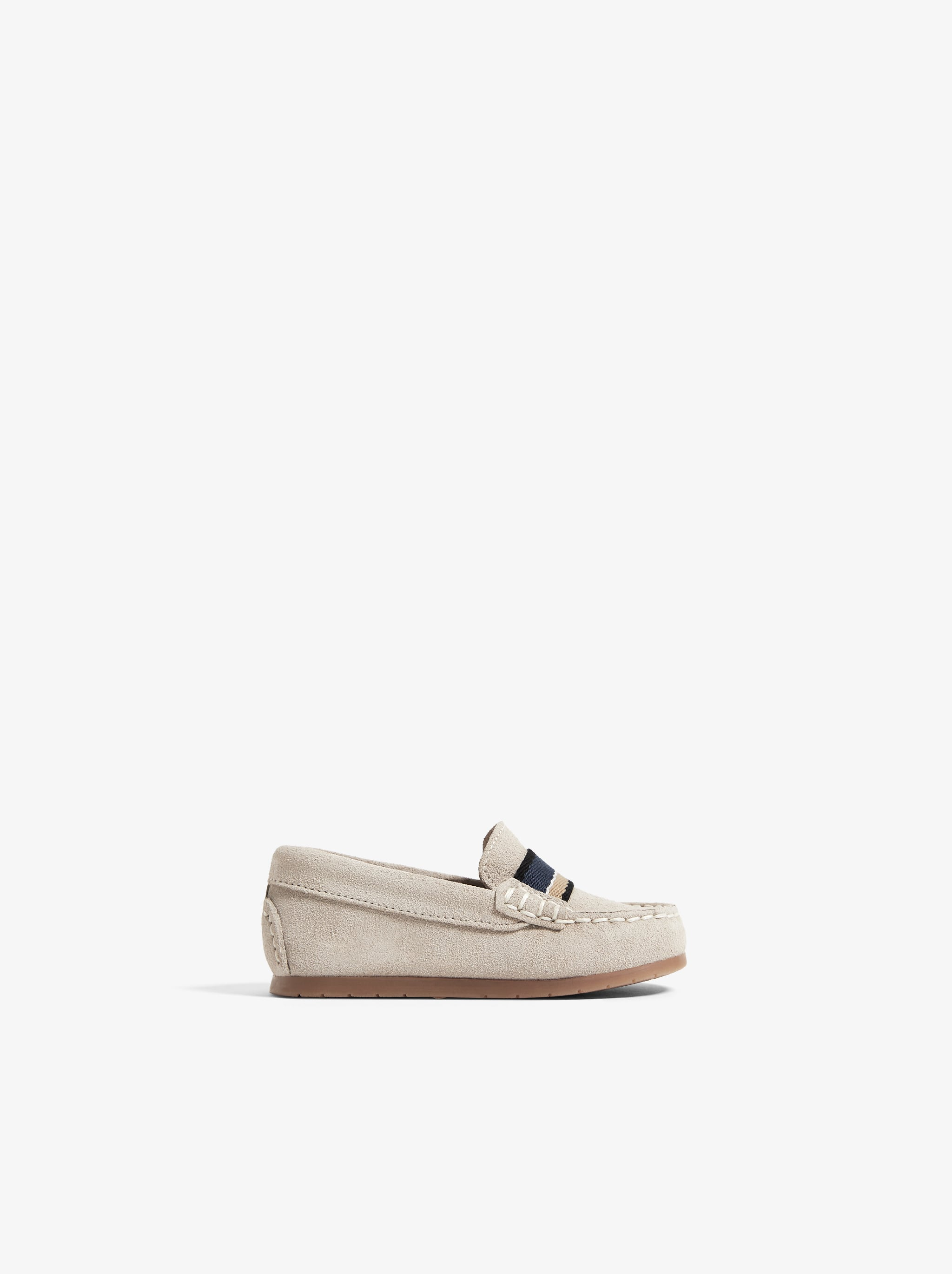 Zara LEATHER LOAFERS WITH BAND